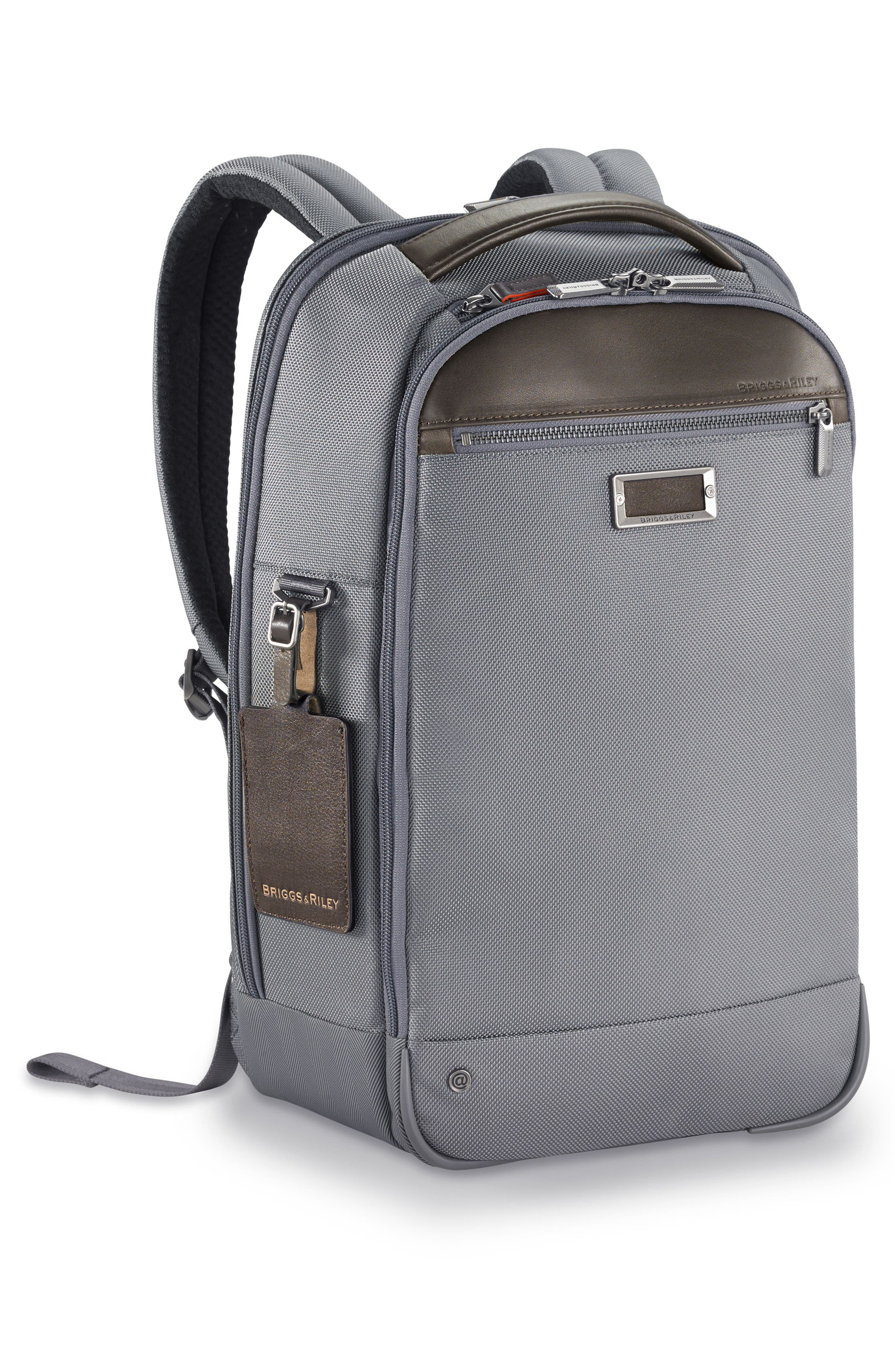 @work Slim Backpack,                             Alternate thumbnail 3, color,                             GREY