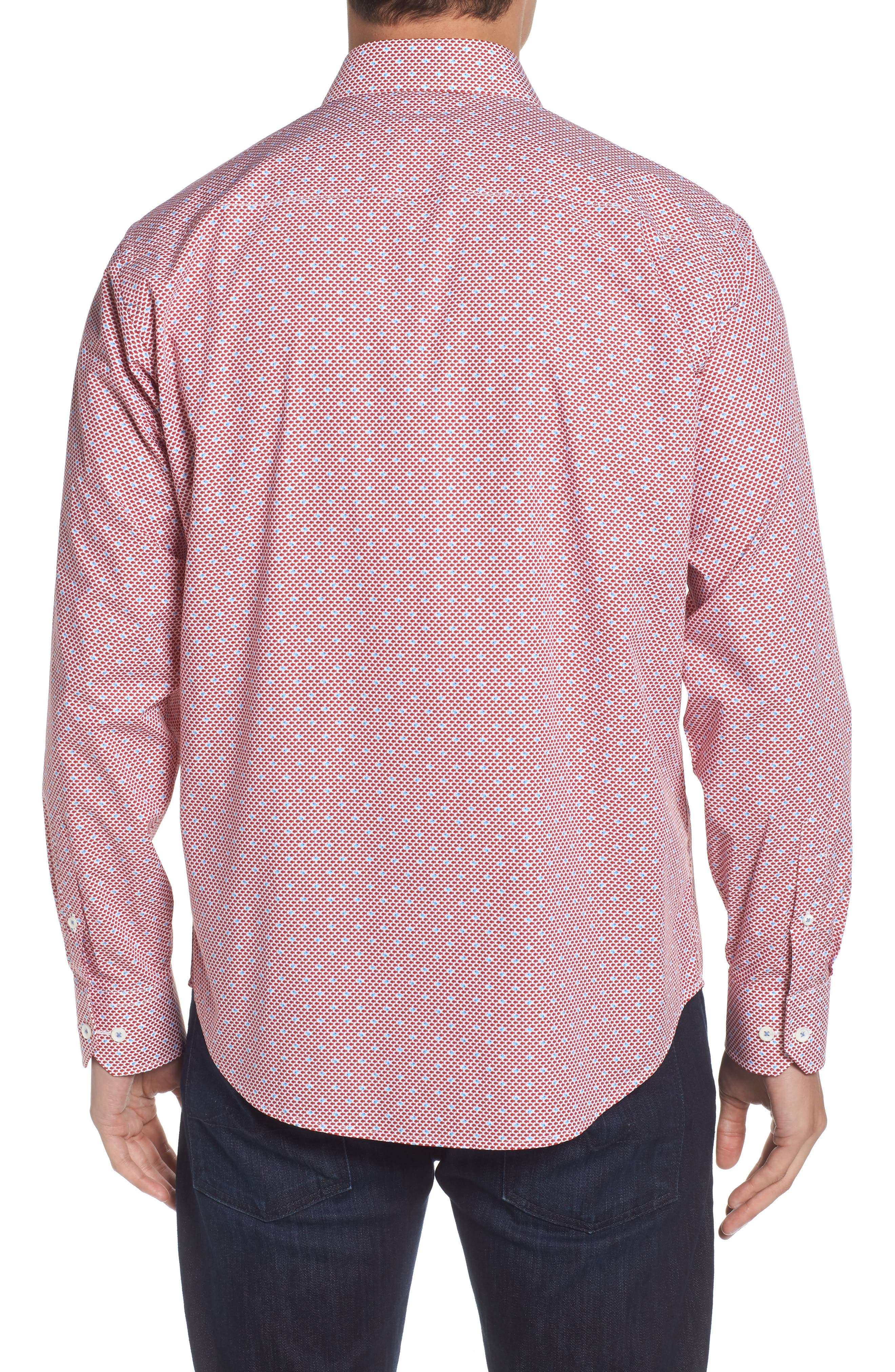 Classic Fit Fish Print Sport Shirt,                             Alternate thumbnail 2, color,                             627