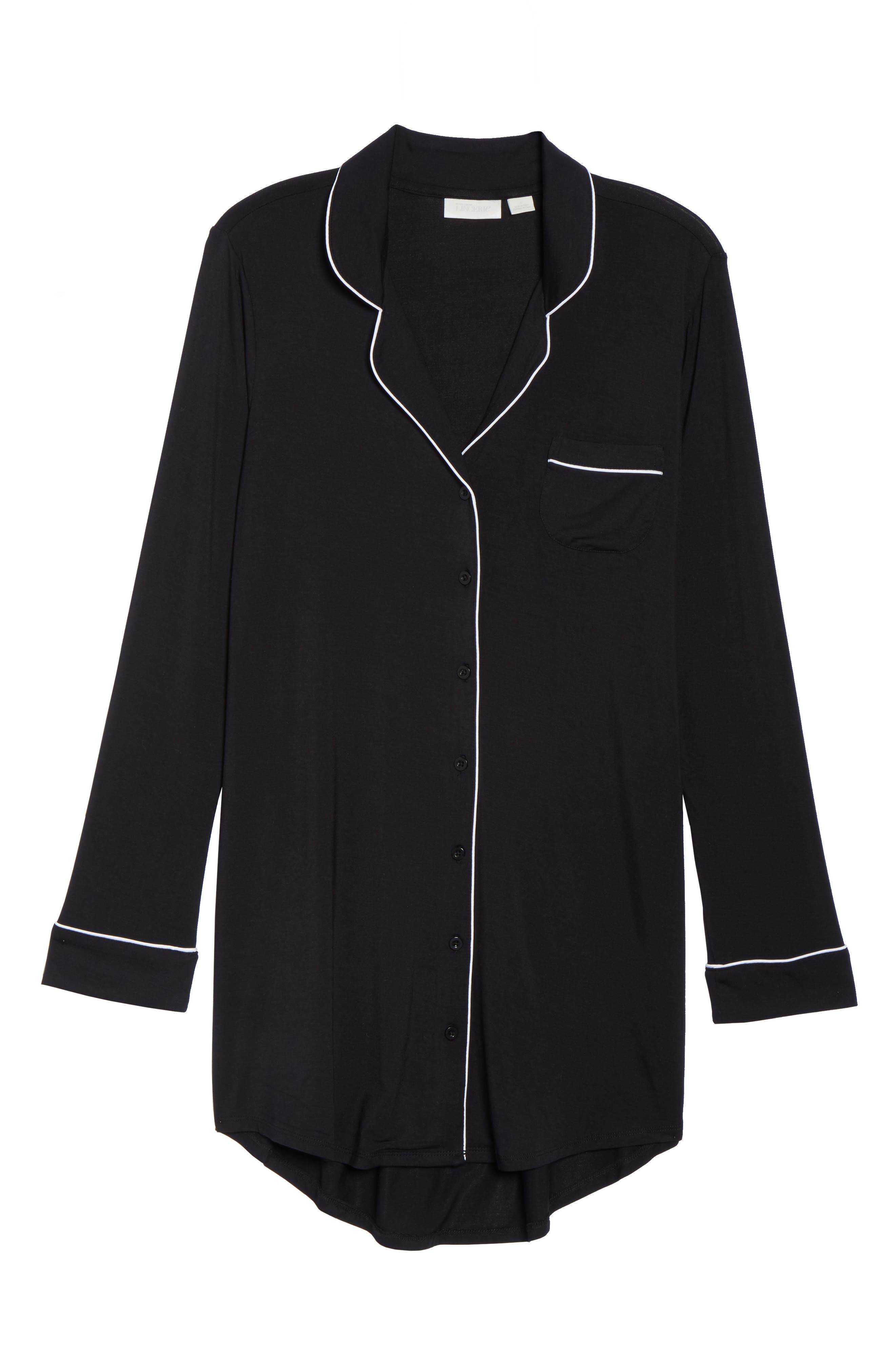 'Moonlight' Nightshirt,                             Alternate thumbnail 6, color,                             BLACK