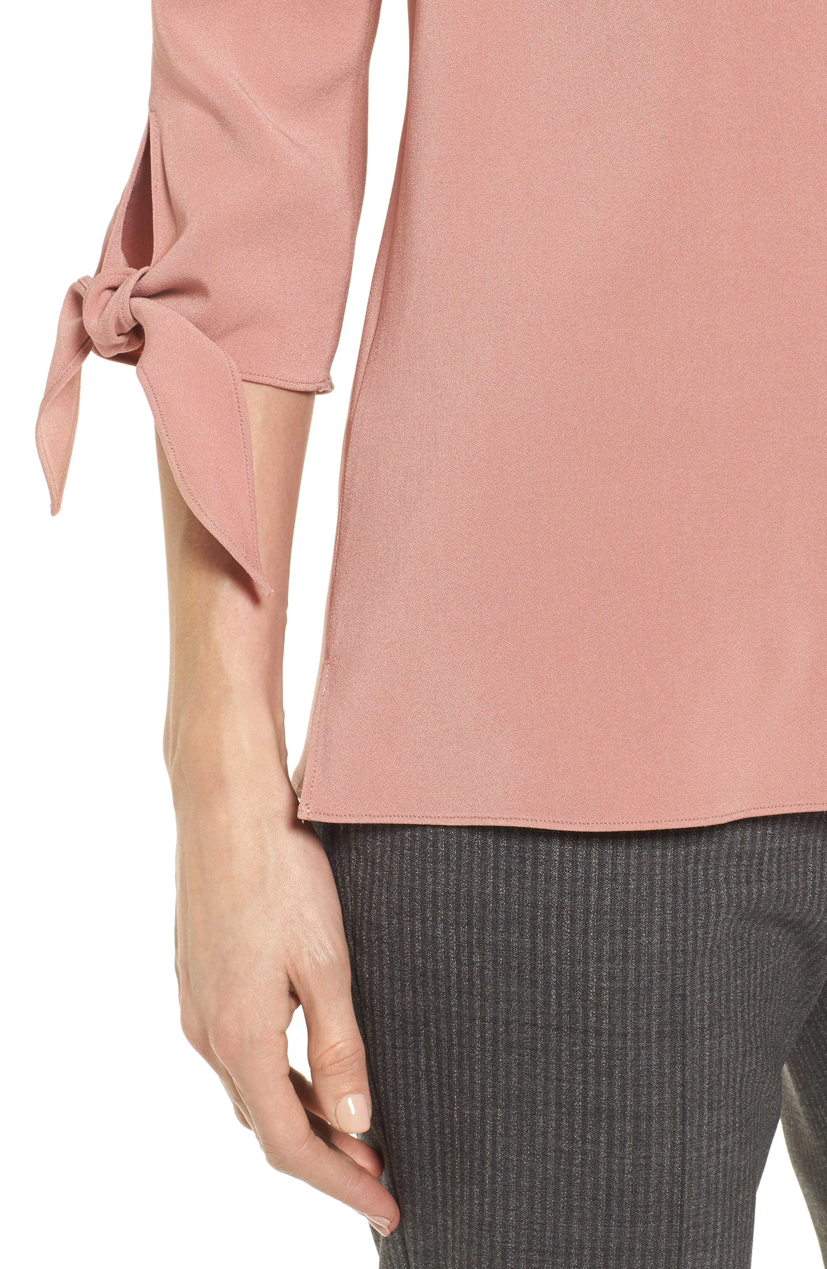 Ivimea Tie Sleeve Blouse,                             Alternate thumbnail 4, color,