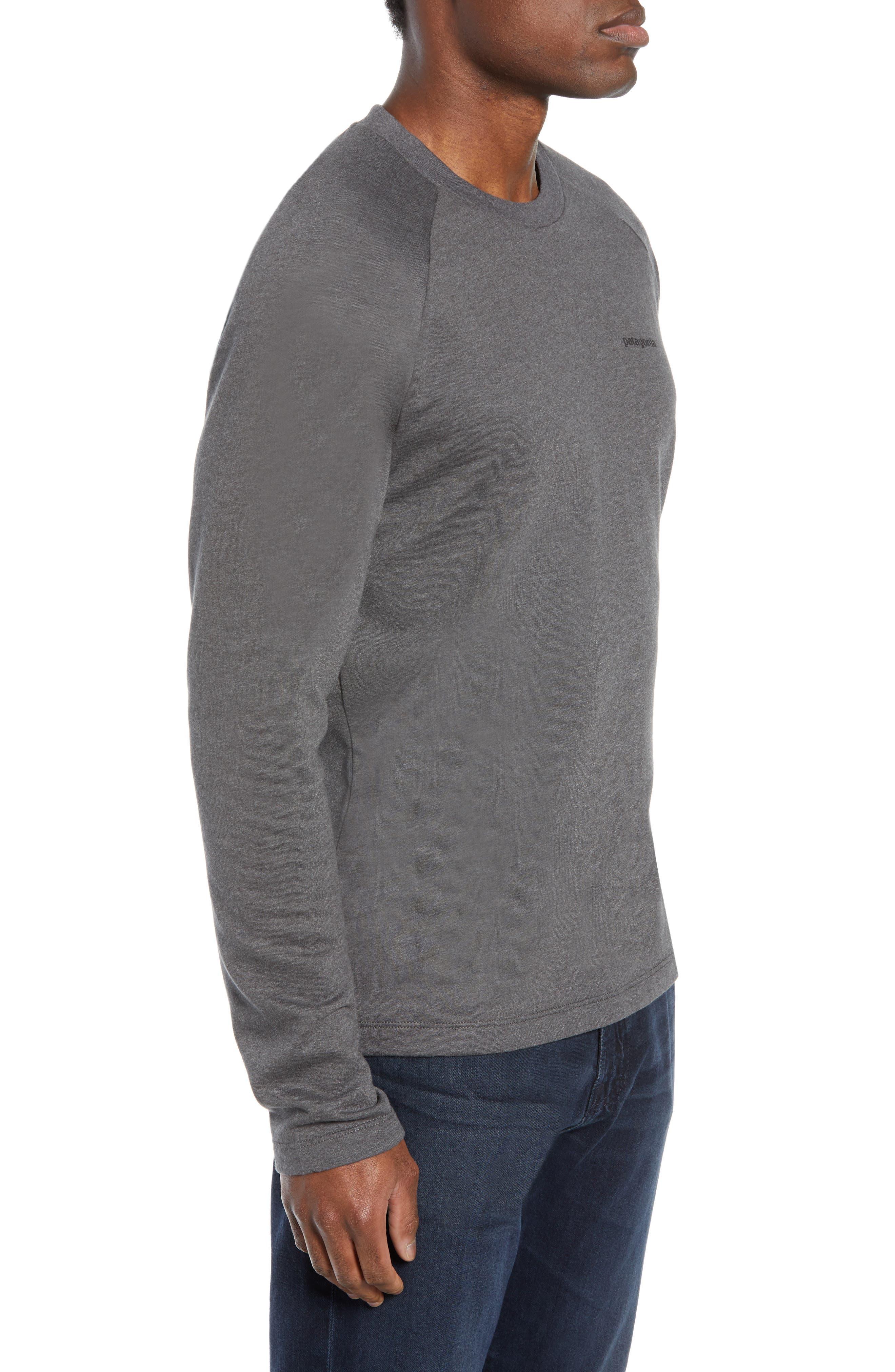 PATAGONIA,                             P-6 Logo Slim Fit Lightweight Sweatshirt,                             Alternate thumbnail 3, color,                             FORGE GREY
