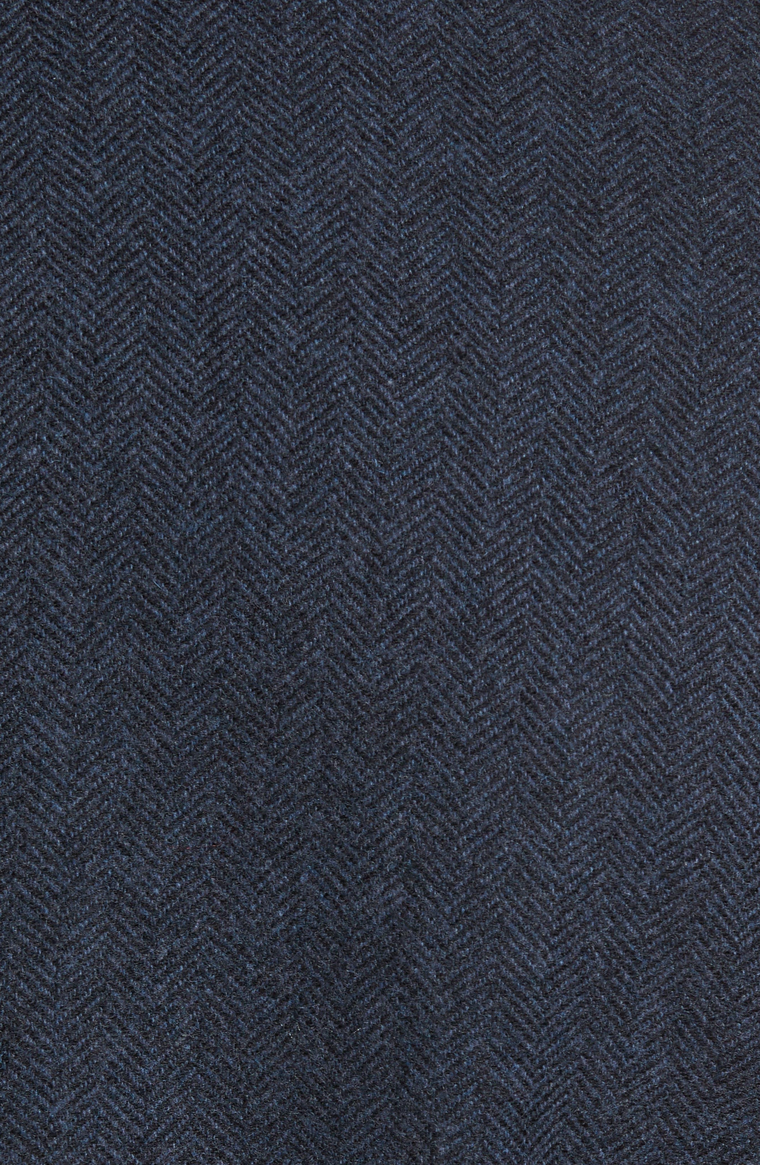 Porter Herringbone Wool Blend Jacket,                             Alternate thumbnail 5, color,                             410