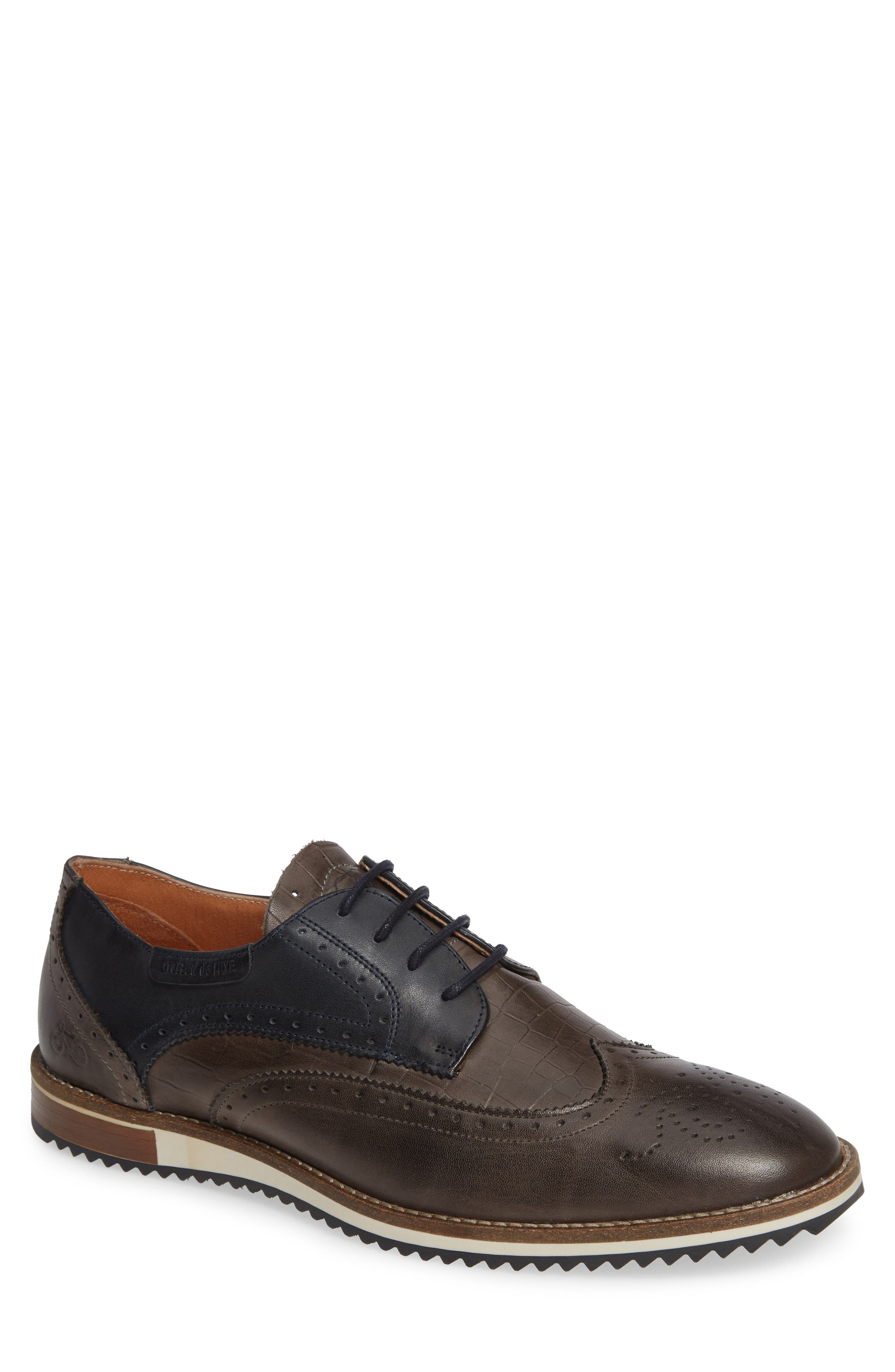 Pulsano Textured Wingtip,                             Main thumbnail 1, color,                             ANTHRACITE
