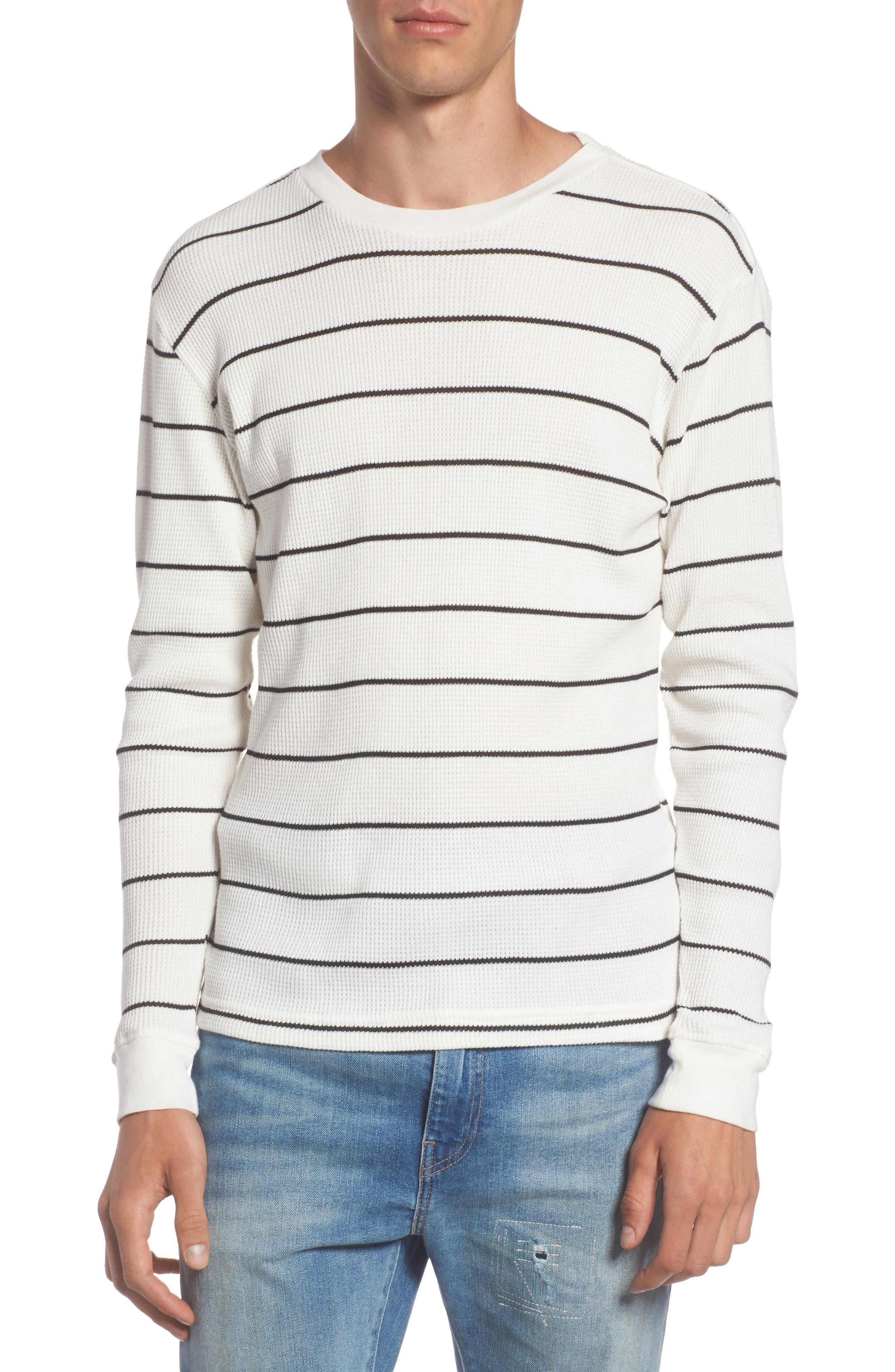 Neutral Stripe Thermal T-Shirt,                             Main thumbnail 1, color,                             111