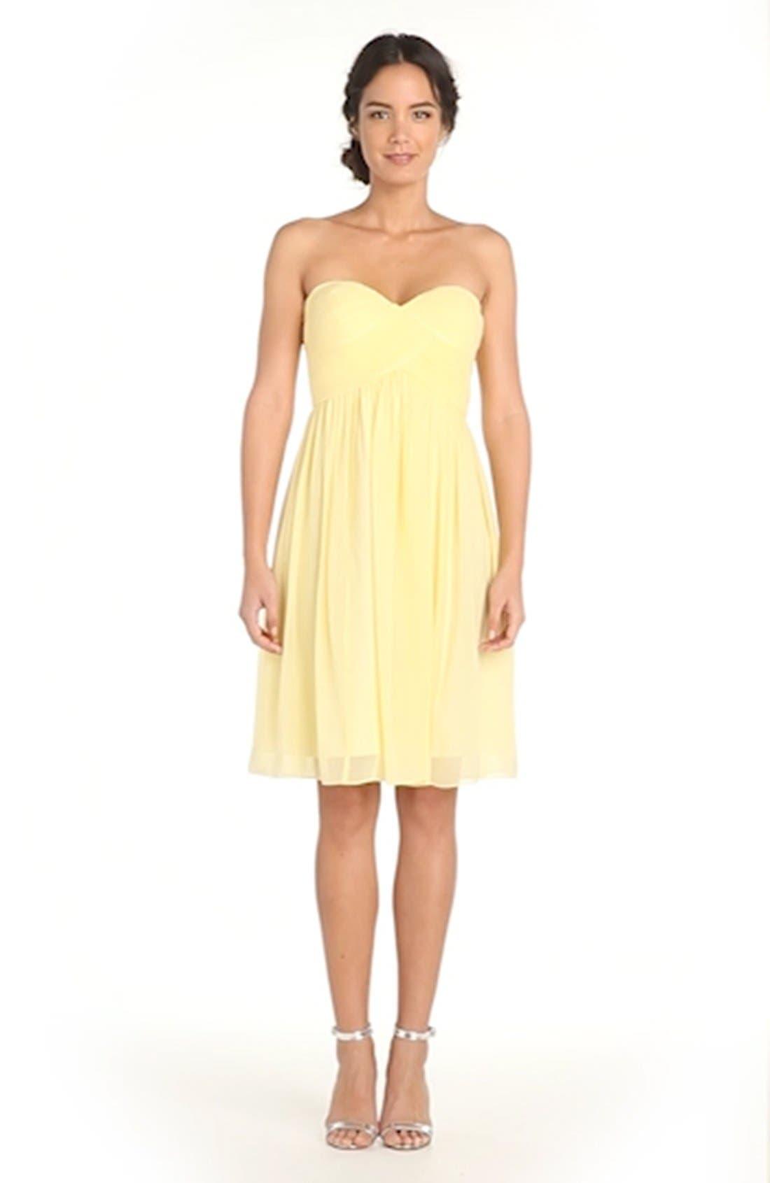 'Morgan' Strapless Silk Chiffon Dress,                             Alternate thumbnail 146, color,