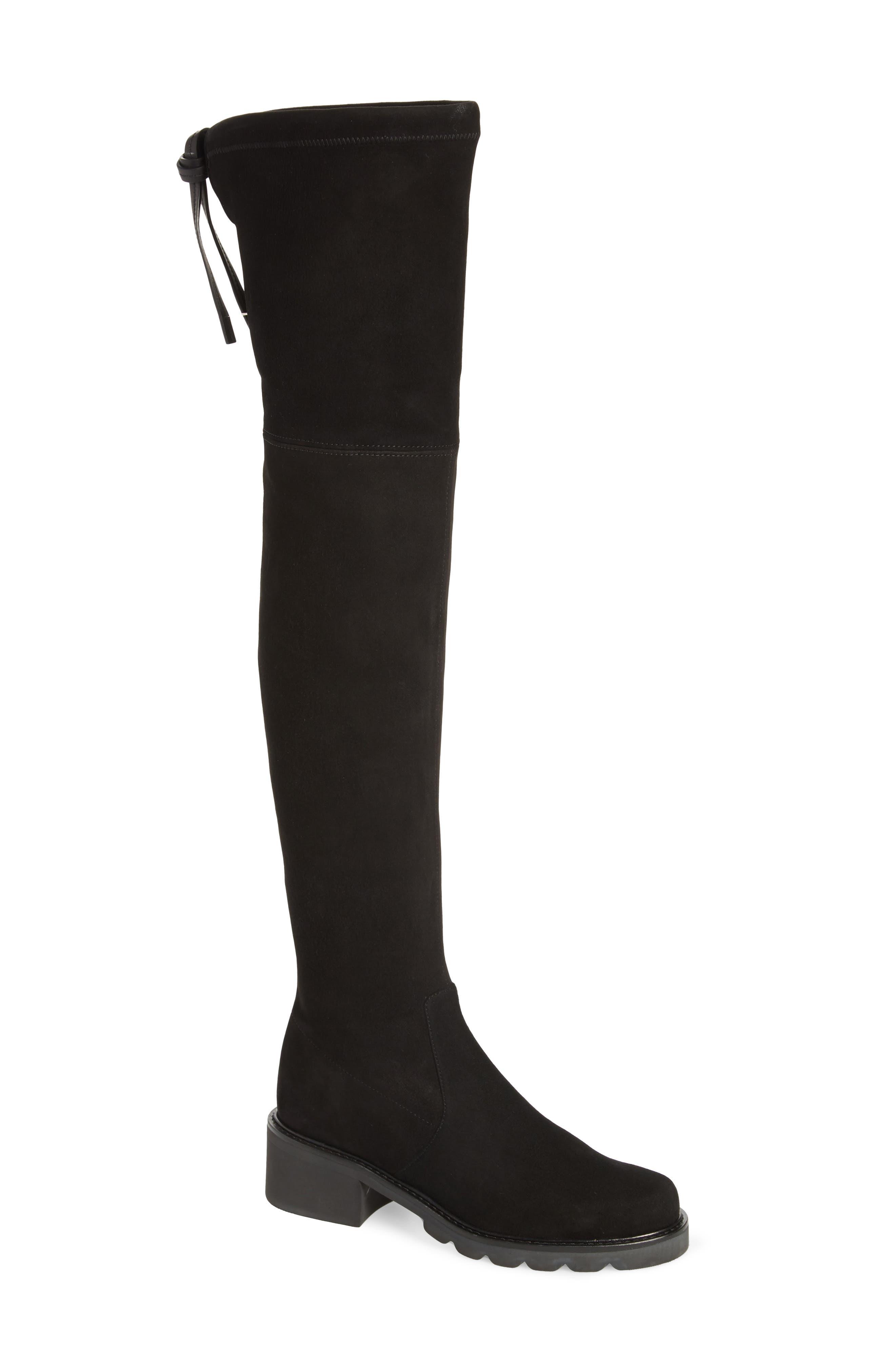 Eldridge Over the Knee Boot,                         Main,                         color, BLACK SUEDE