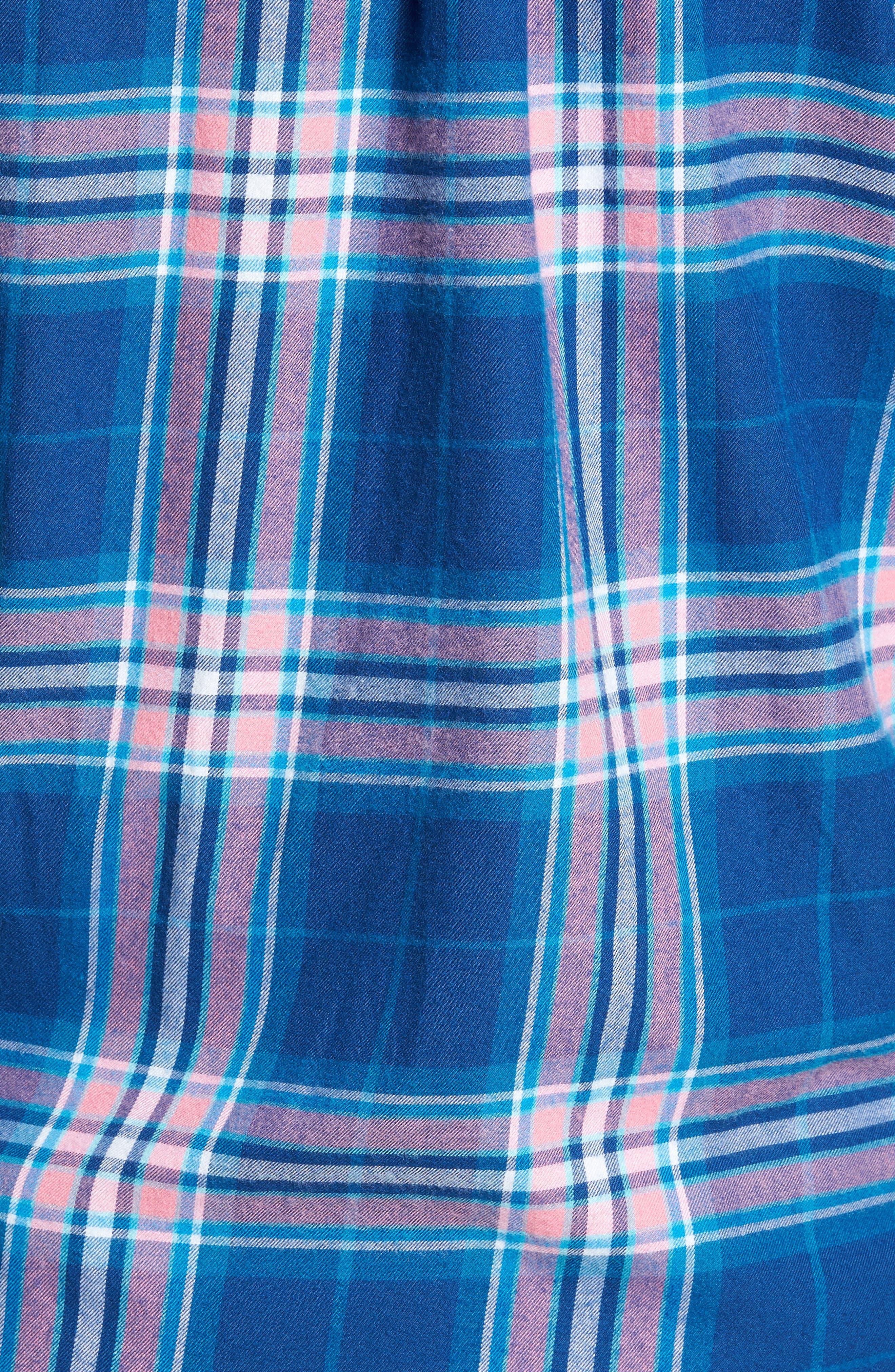 Murray Classic Fit Point Lobos Plaid Flannel Sport Shirt,                             Alternate thumbnail 5, color,