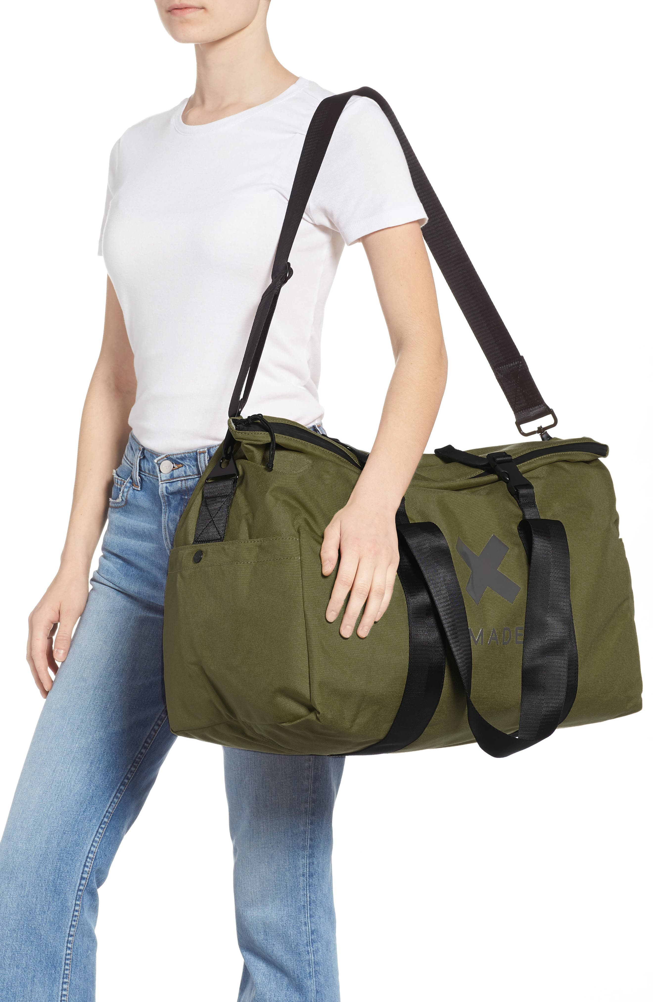SWS 50L Roll Top Duffel Bag,                             Alternate thumbnail 2, color,                             OLIVE