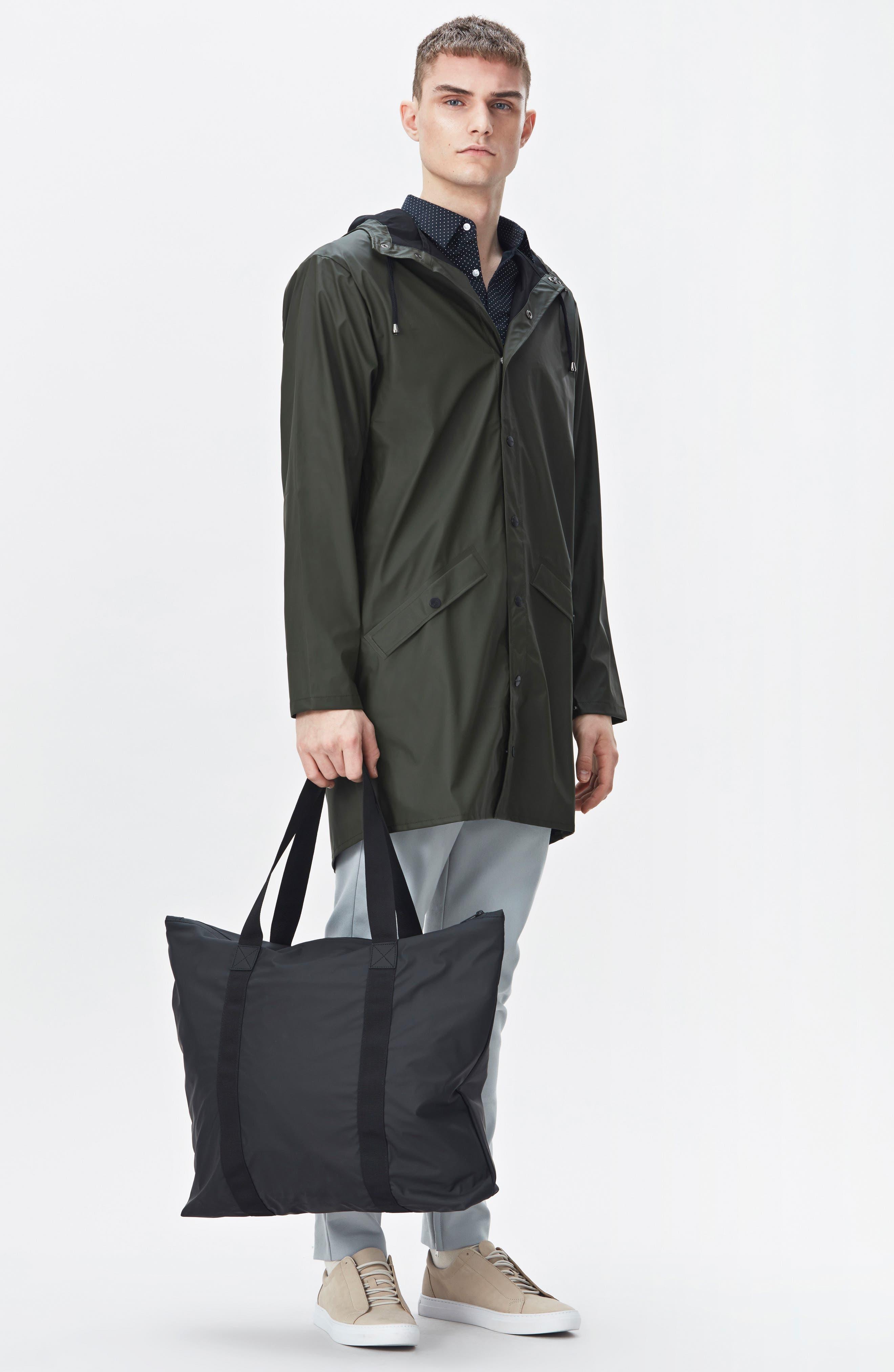 Waterproof Tote Bag,                             Alternate thumbnail 8, color,                             BLACK