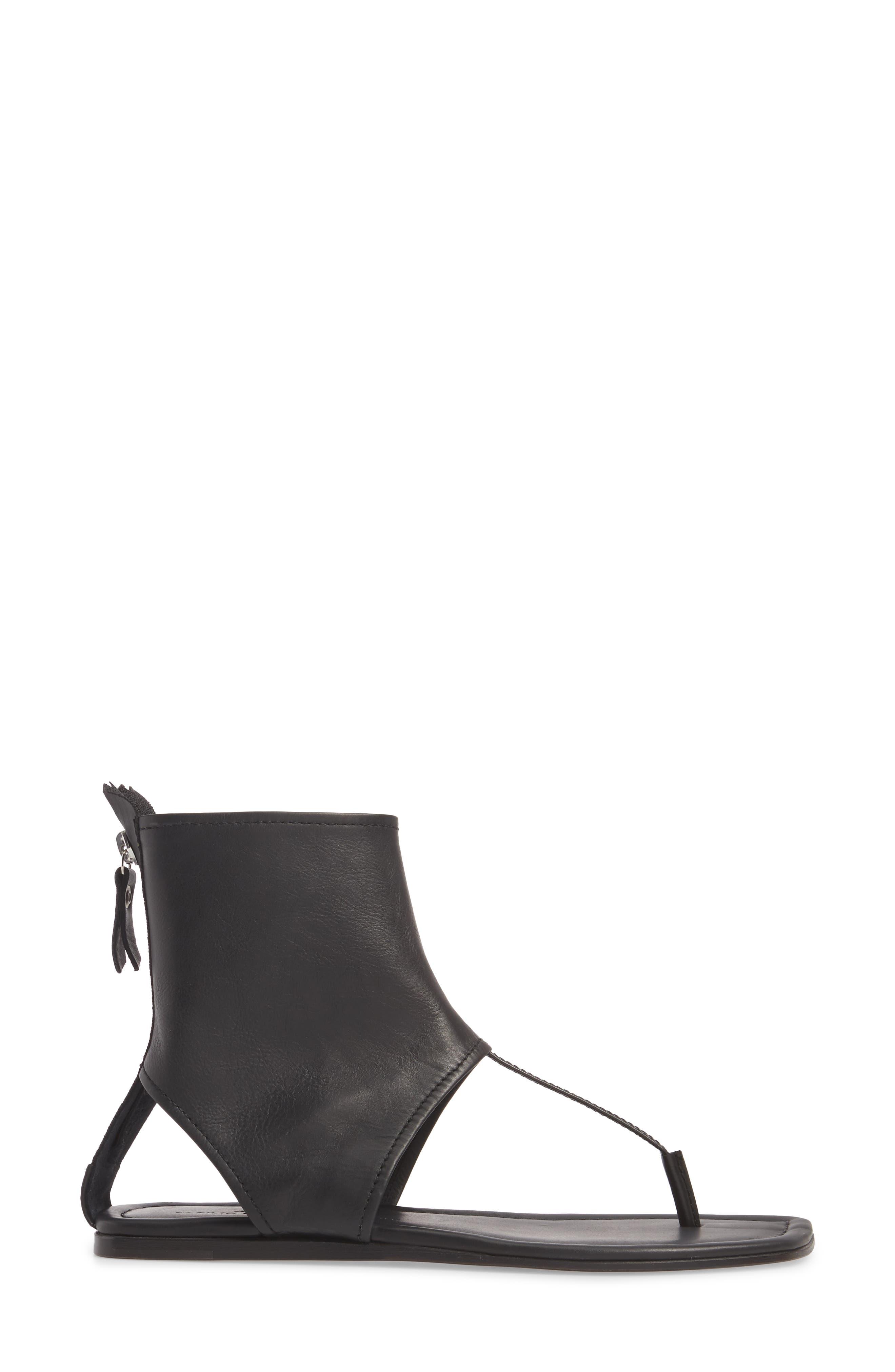 Ankle Shield Thong Sandal,                             Alternate thumbnail 3, color,                             001
