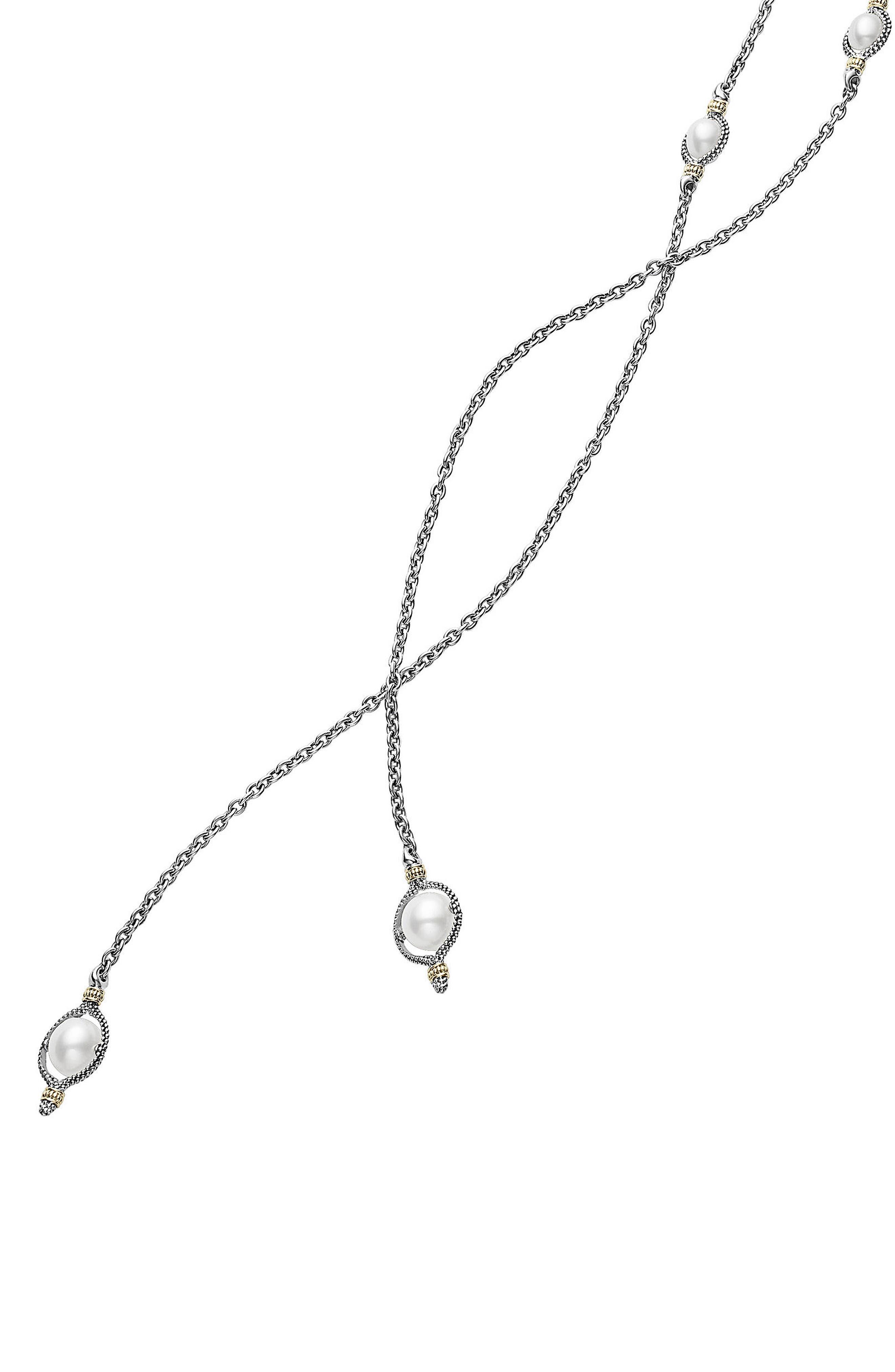 Luna Pearl Lariat Necklace,                             Alternate thumbnail 2, color,                             040