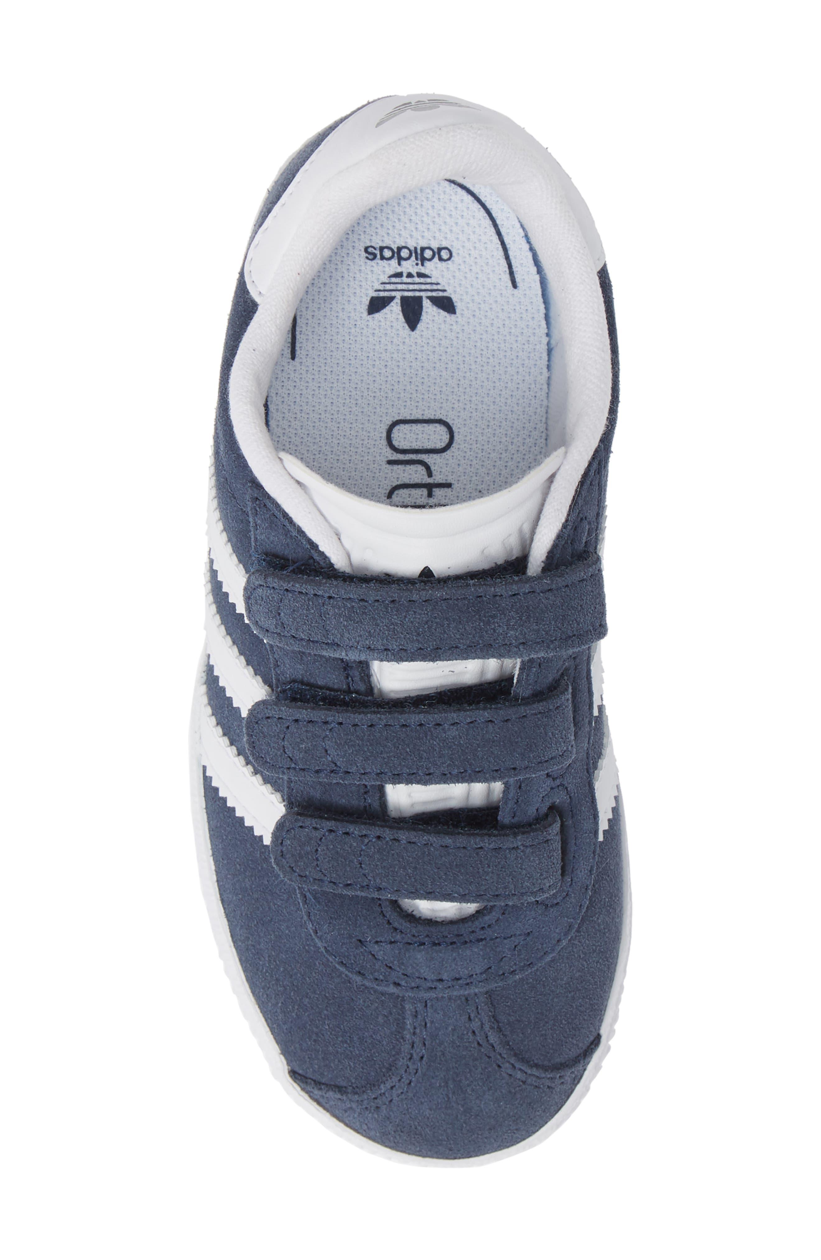 Gazelle Sneaker,                             Alternate thumbnail 5, color,                             NAVY/ WHITE