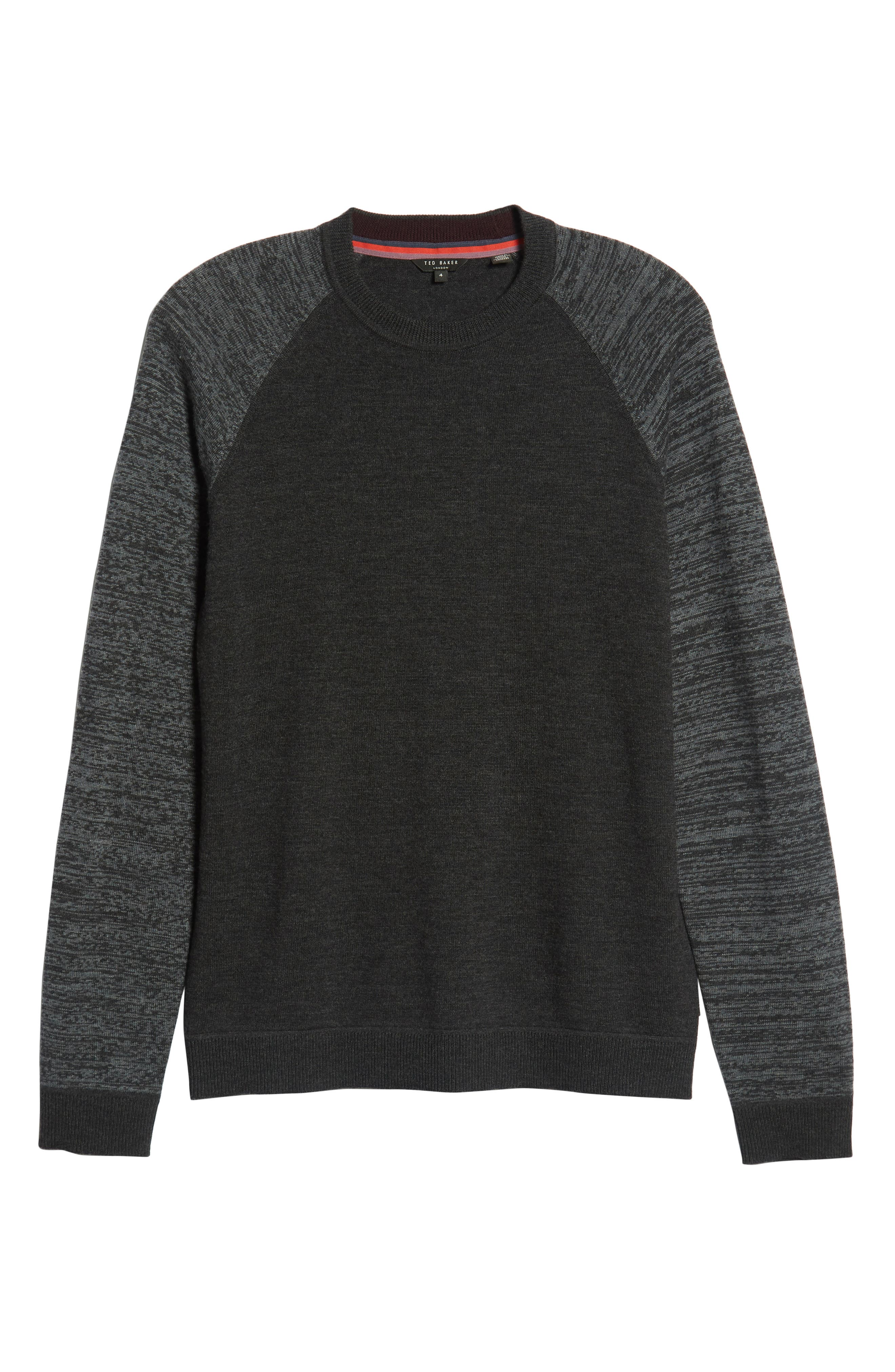 Cornfed Slim Fit Sweater,                             Alternate thumbnail 6, color,                             CHARCOAL