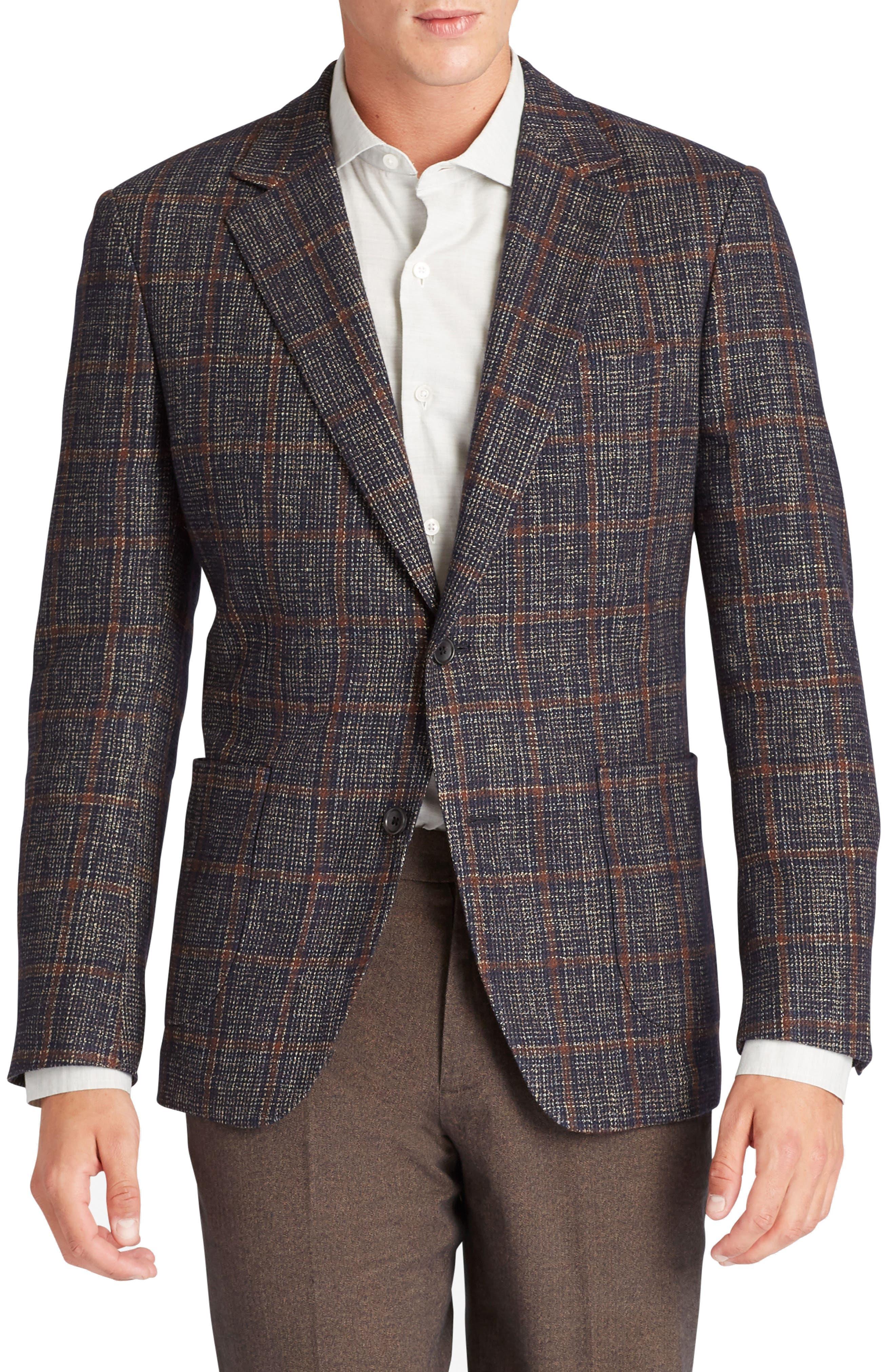 Slim Fit Wool Blend Blazer,                         Main,                         color, 400