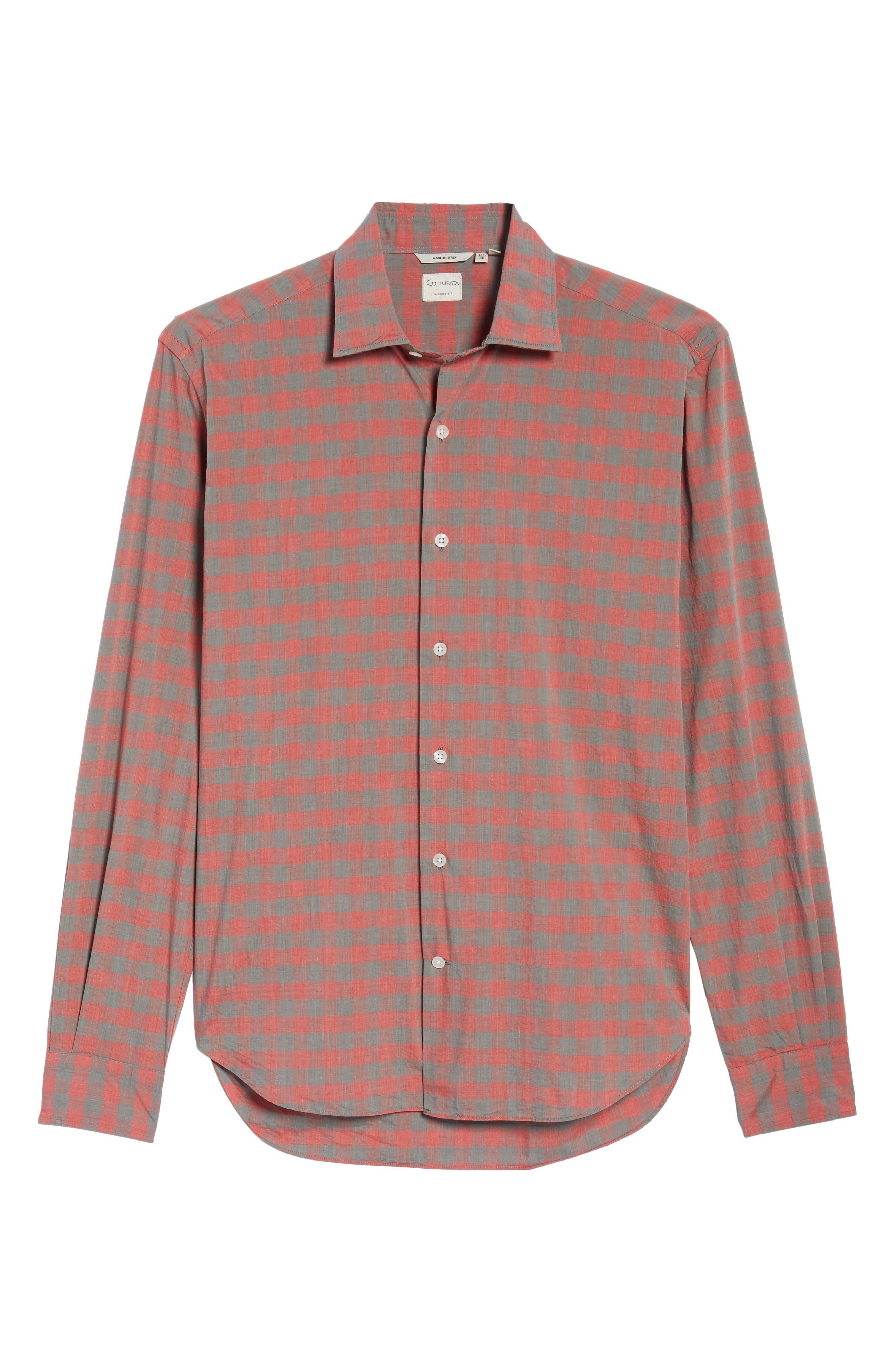 Slim Fit Check Sport Shirt,                             Alternate thumbnail 6, color,                             600