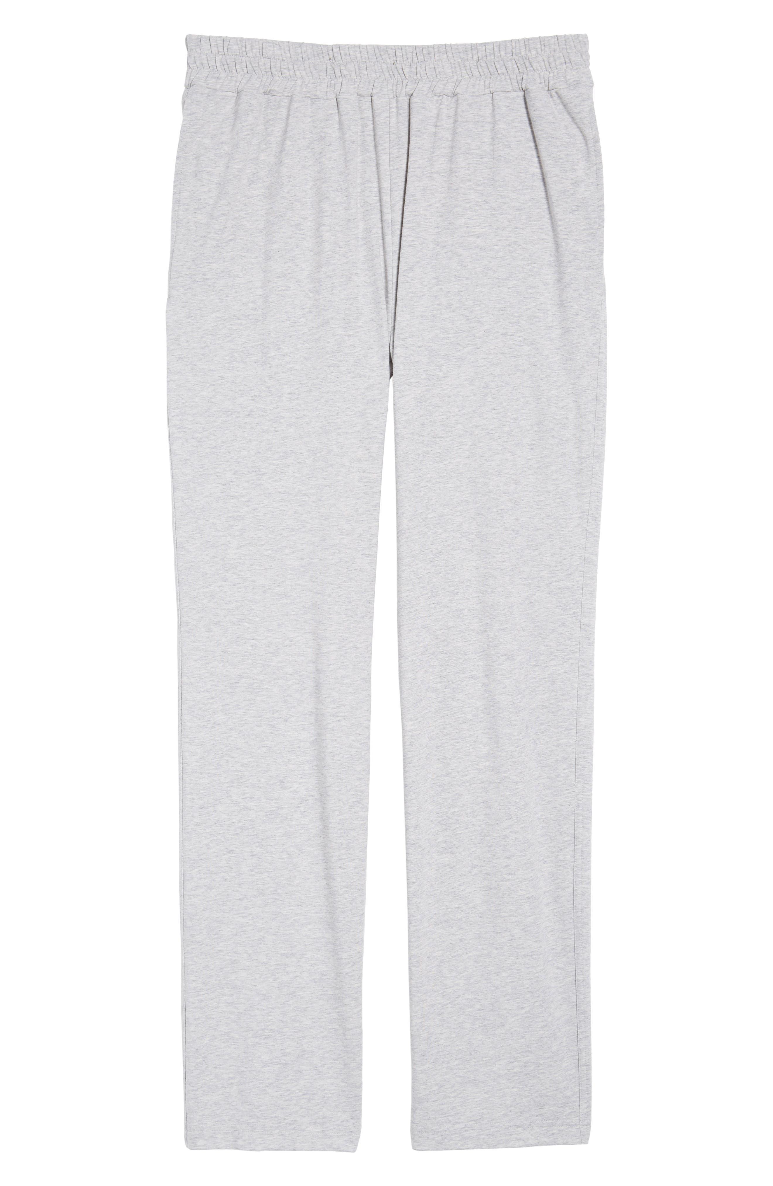 Classic Liquid Cotton Stretch Pants,                             Alternate thumbnail 6, color,                             HEATHER GREY