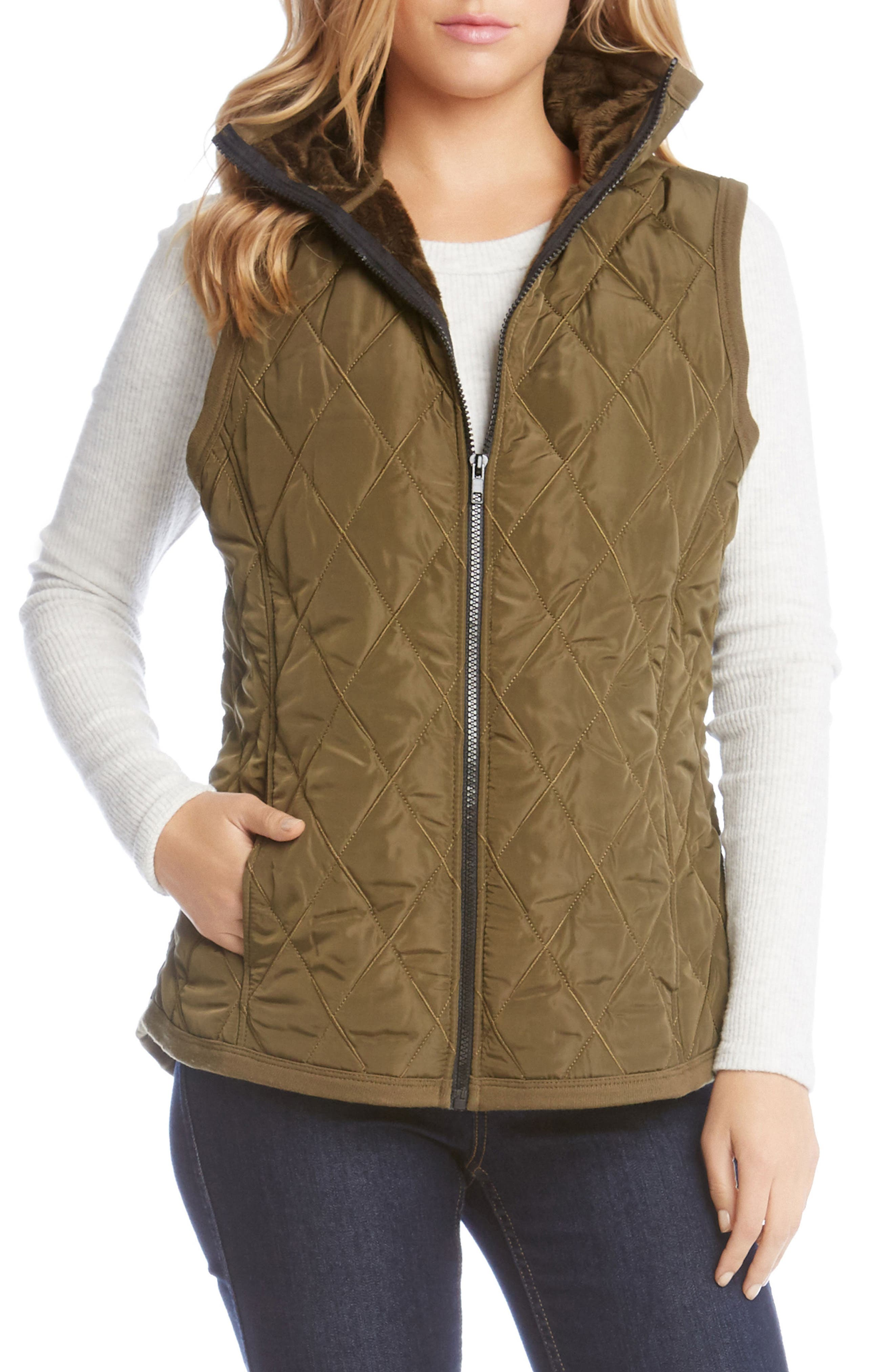 Quilted Vest,                         Main,                         color, 330