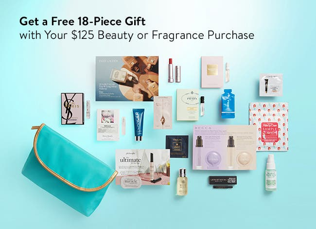 Free 18-piece gift with purchase.