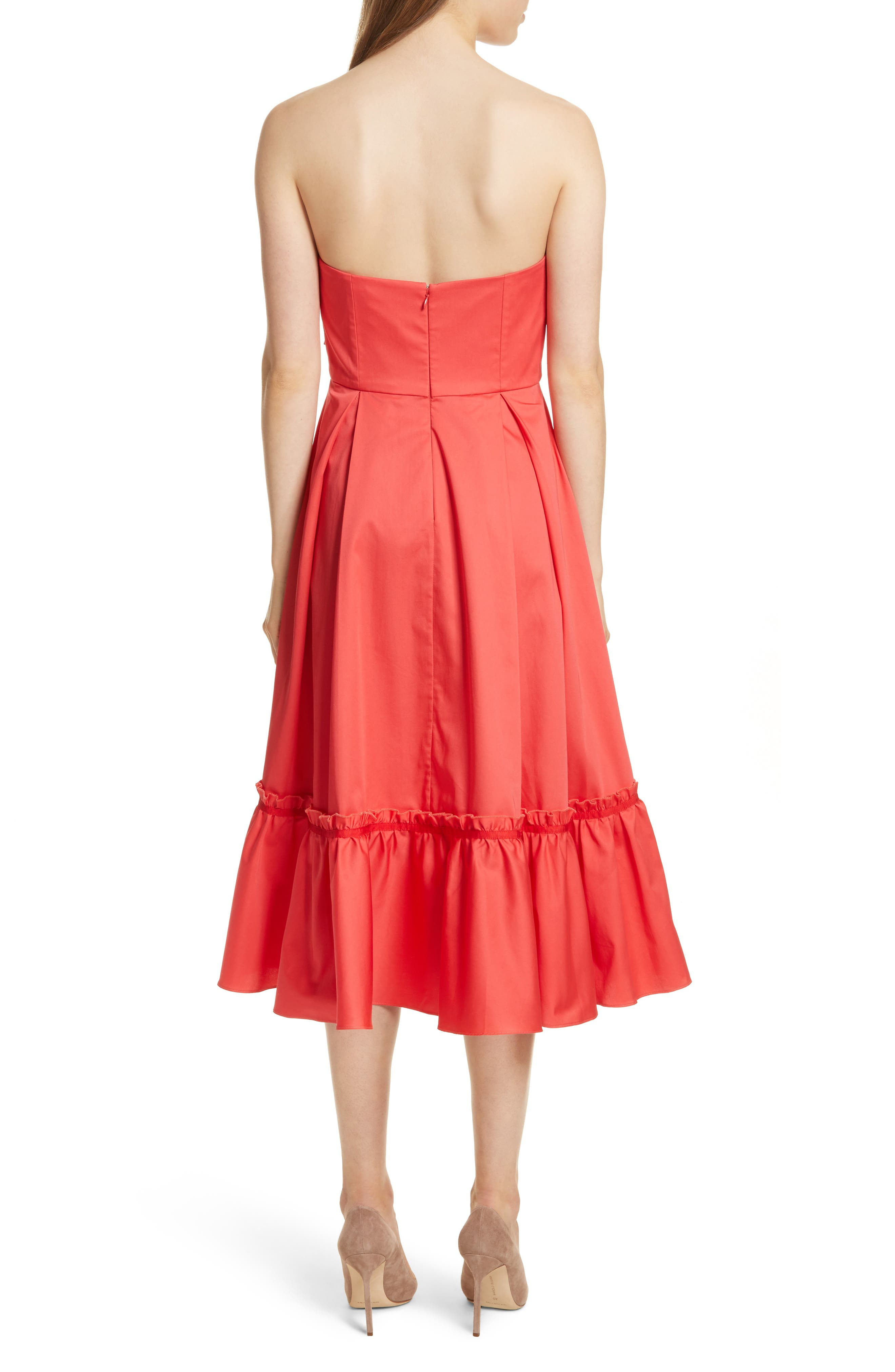 Prose & Poetry Harlow Ruffle Trim Strapless Dress,                             Alternate thumbnail 2, color,