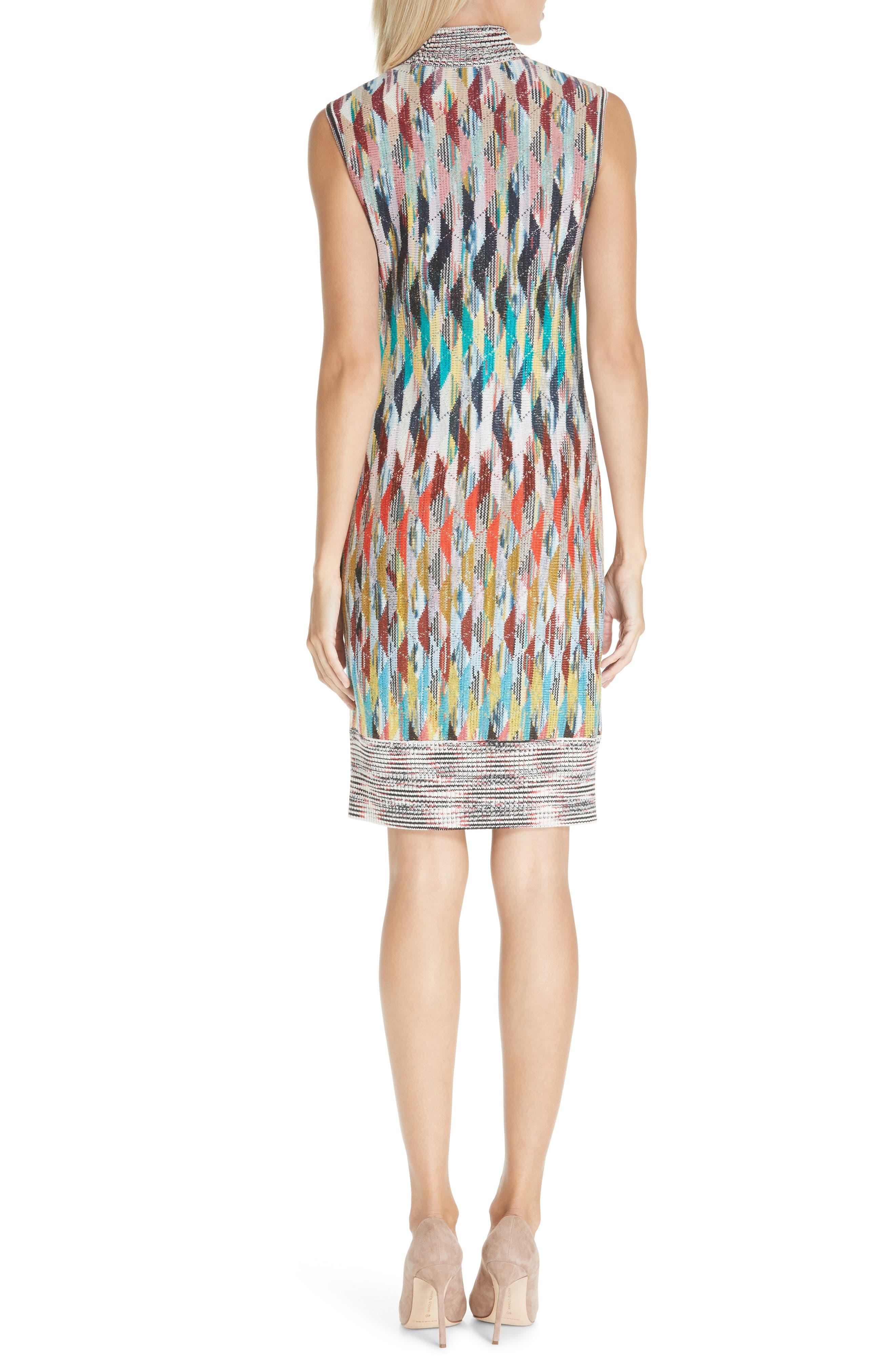 Knit Turtleneck Dress,                             Alternate thumbnail 2, color,                             MULTI