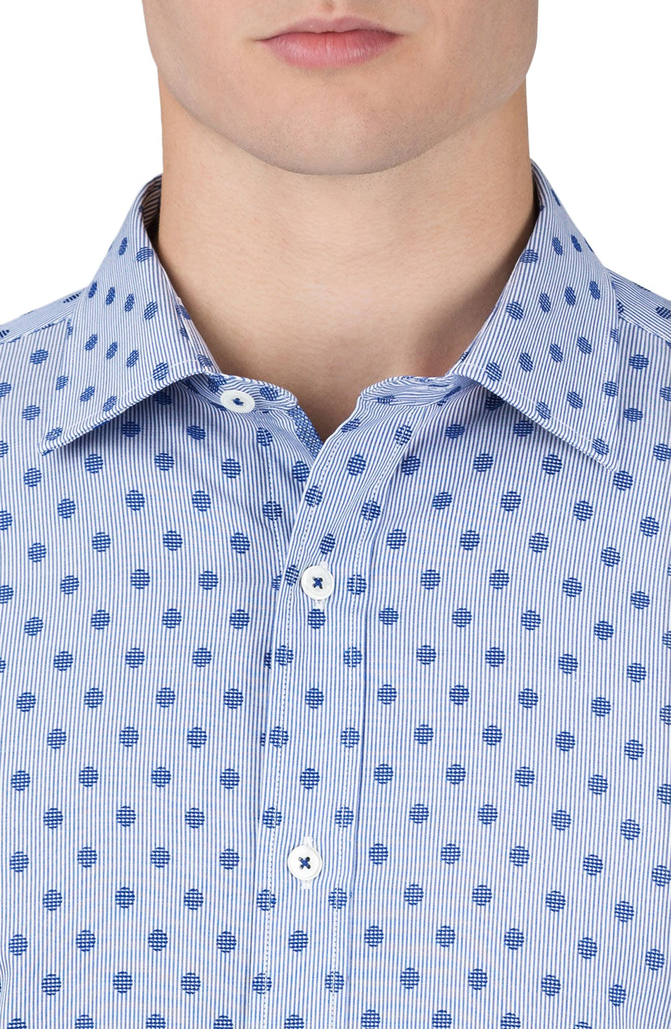 Classic Fit Dotted Sport Shirt,                             Alternate thumbnail 3, color,                             408