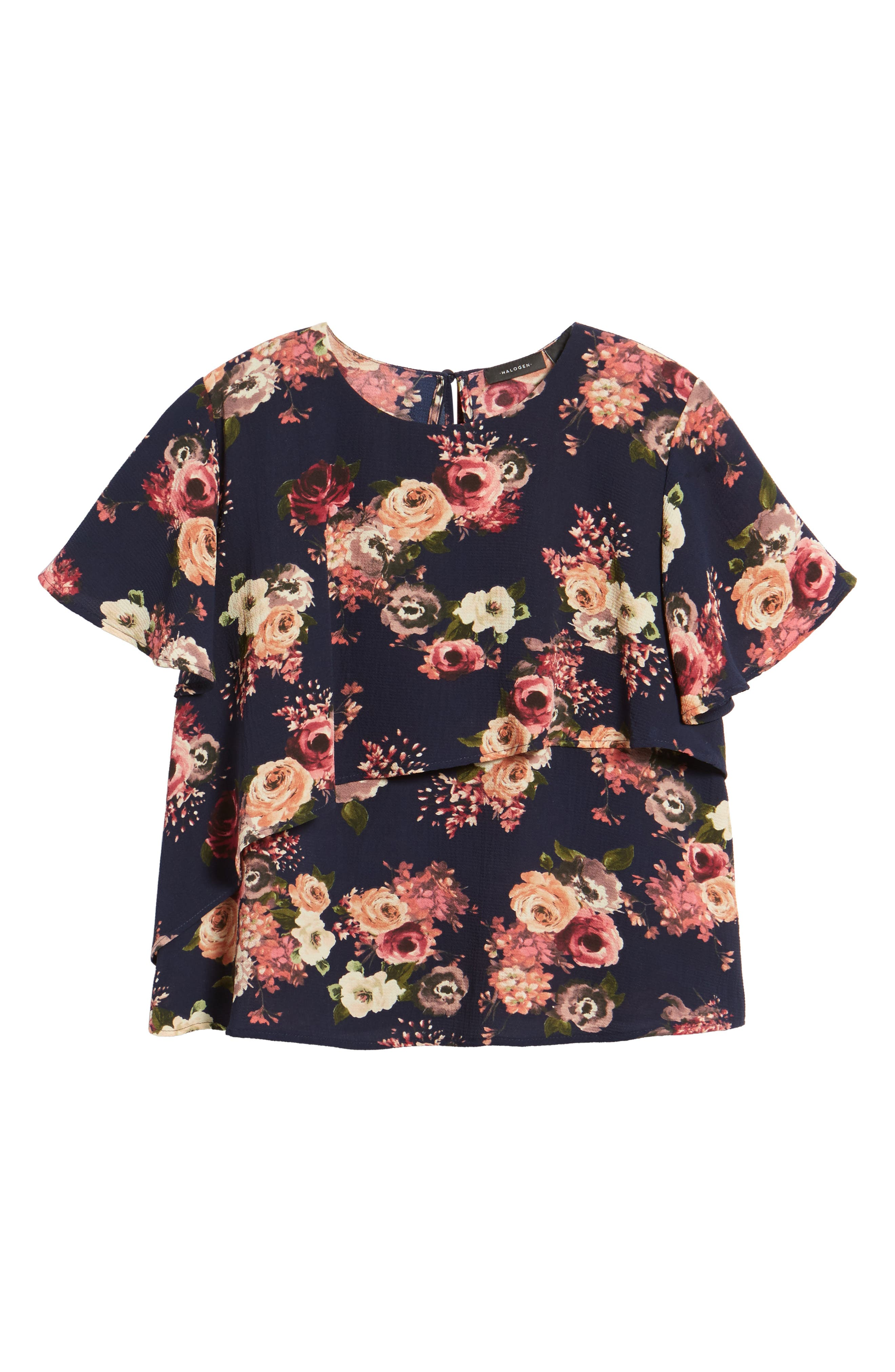Layered Floral Top,                             Alternate thumbnail 6, color,                             410