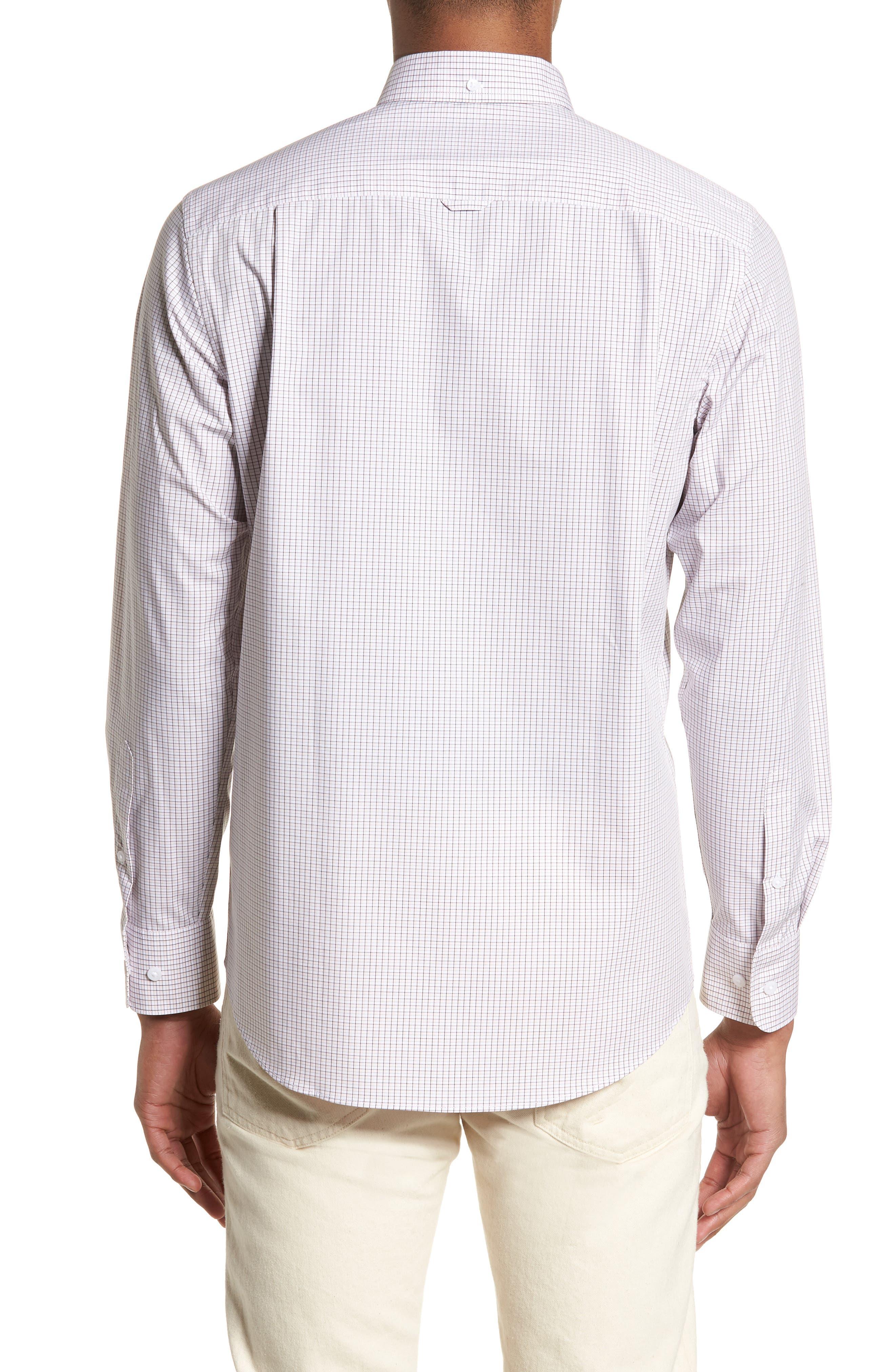 Tech-Smart Regular Fit Check Sport Shirt,                             Alternate thumbnail 2, color,