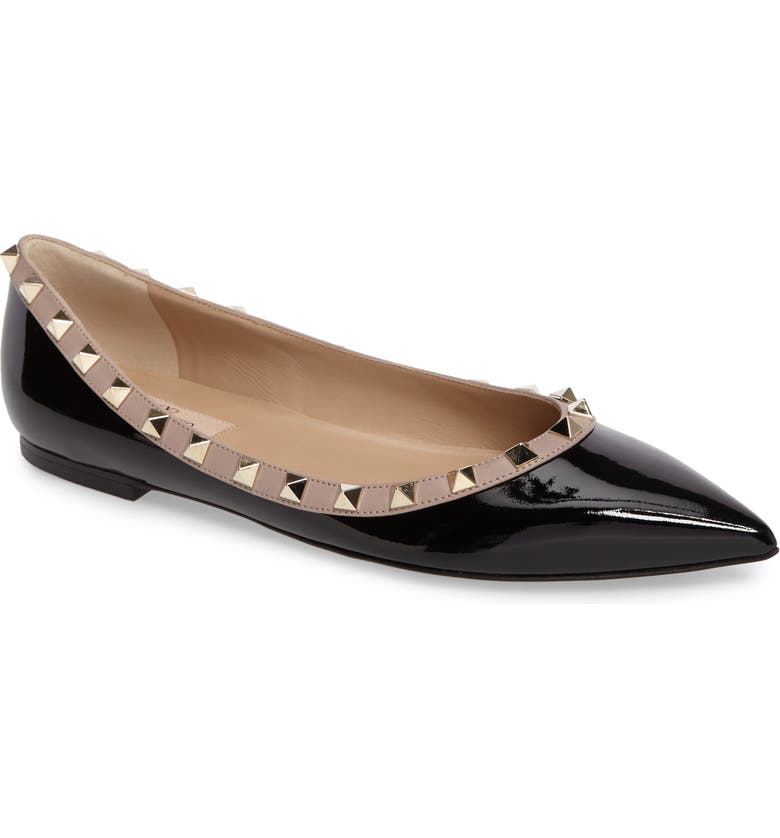 Shopping for VALENTINO GARAVANI Rockstud Ballerina Flat (Women) Good price