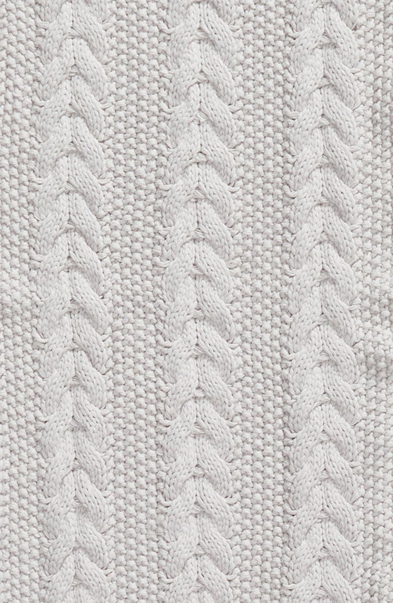 Barbour Cable Knit Hat   Scarf Set - White In Ice White  26c4c266fe99