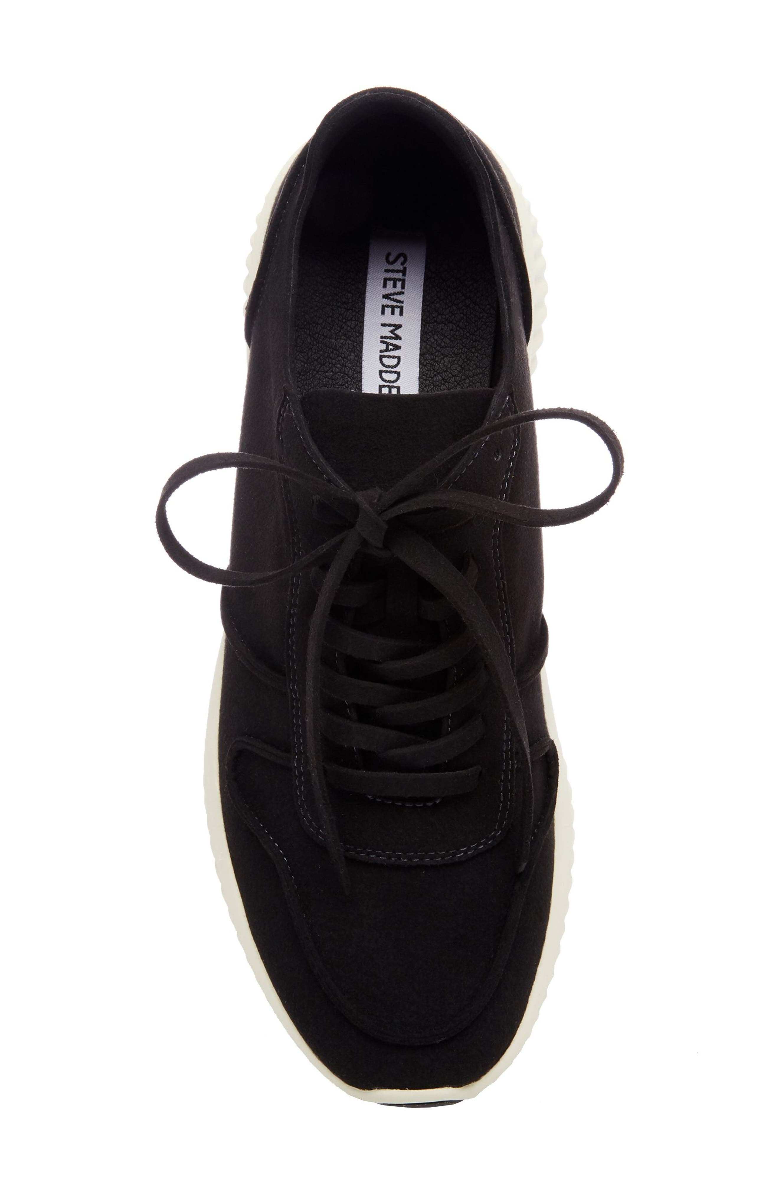 Rolf Low Top Sneaker,                             Alternate thumbnail 5, color,                             BLACK LEATHER