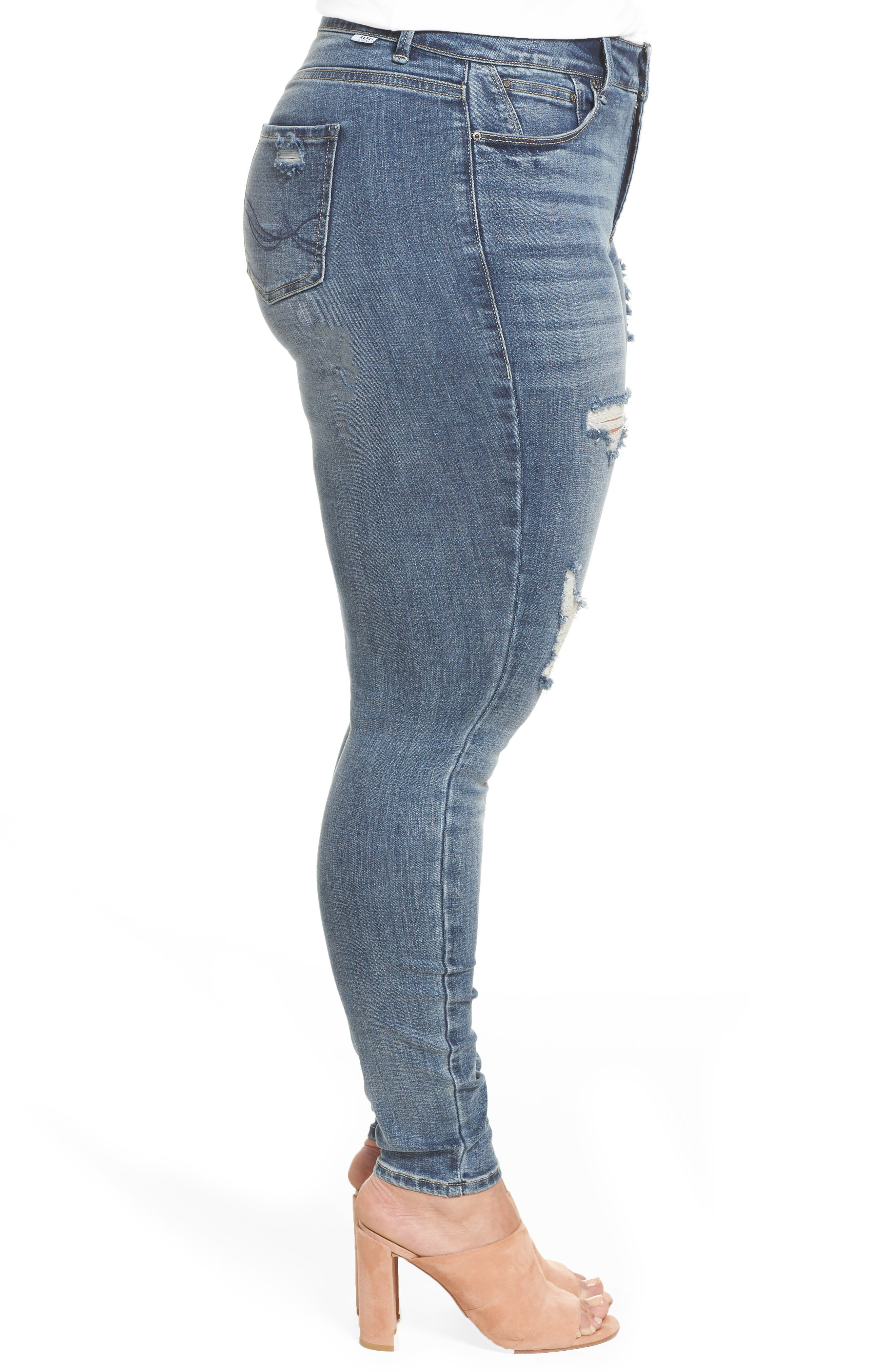 The Pin Up Super Skinny Jeans,                             Alternate thumbnail 13, color,