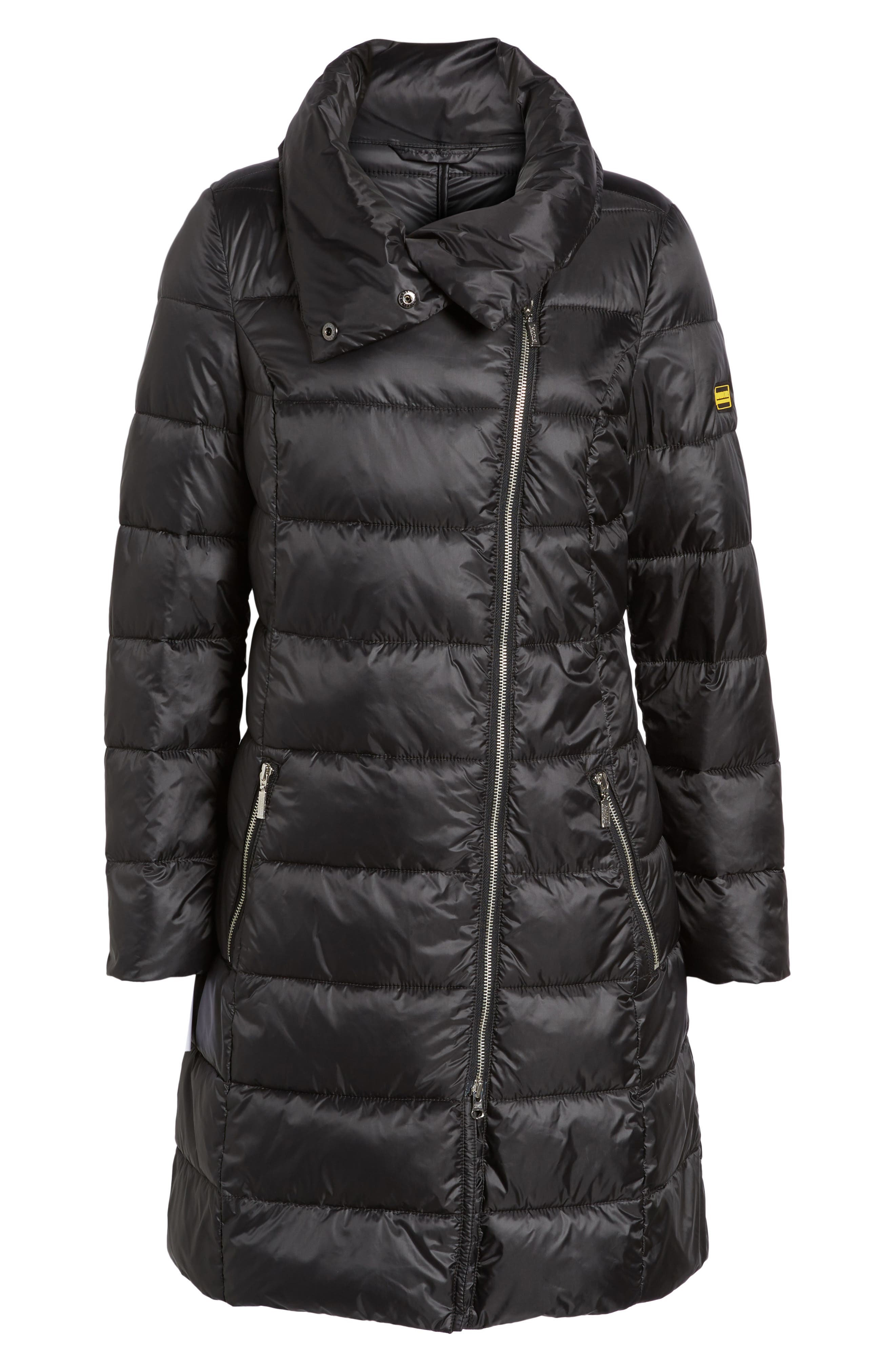 Water Resistant Baffle Quilted Jacket,                             Alternate thumbnail 5, color,