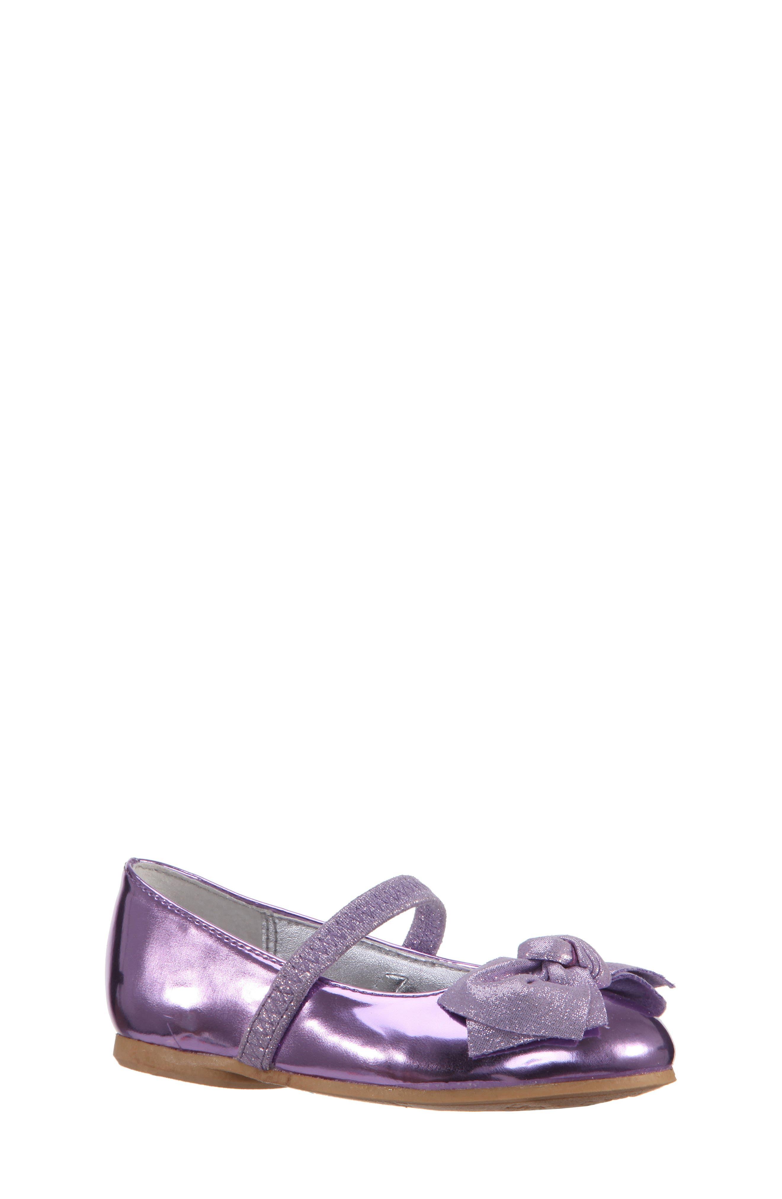 Kaytelyn-T Glitter Bow Ballet Flat,                             Main thumbnail 4, color,