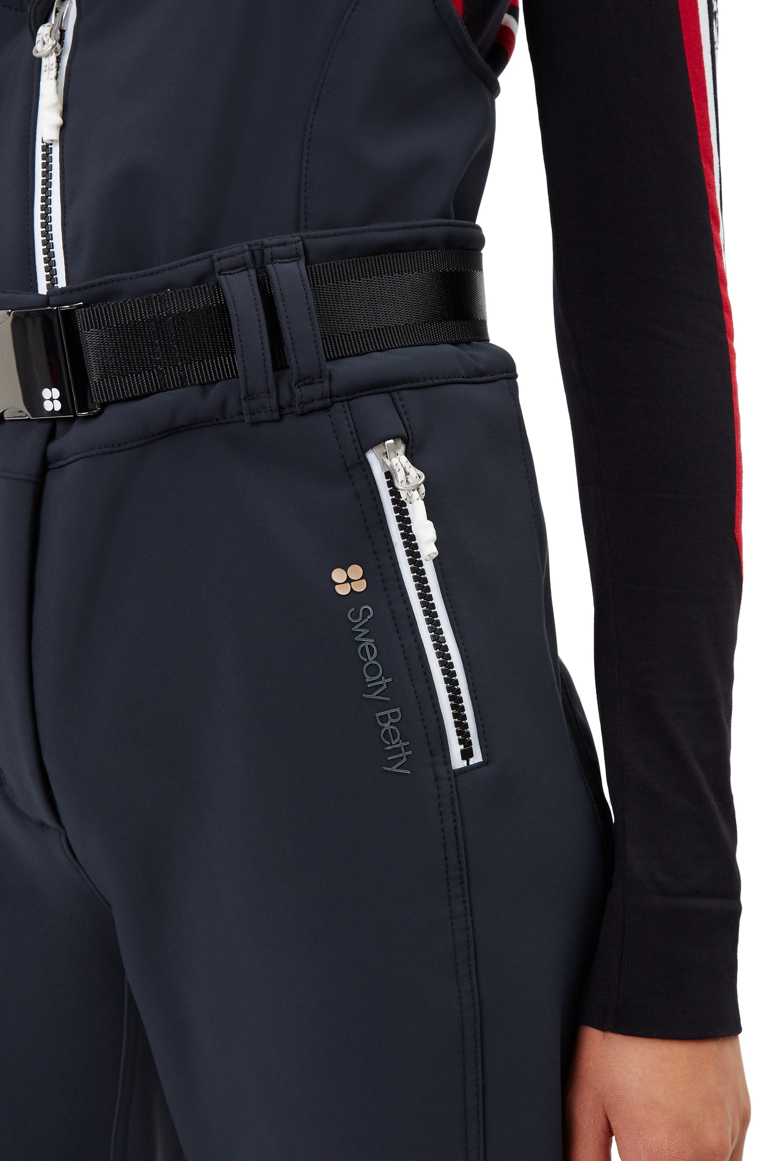 Astro Waterproof Soft Shell Ski Pants,                             Alternate thumbnail 4, color,                             BLACK