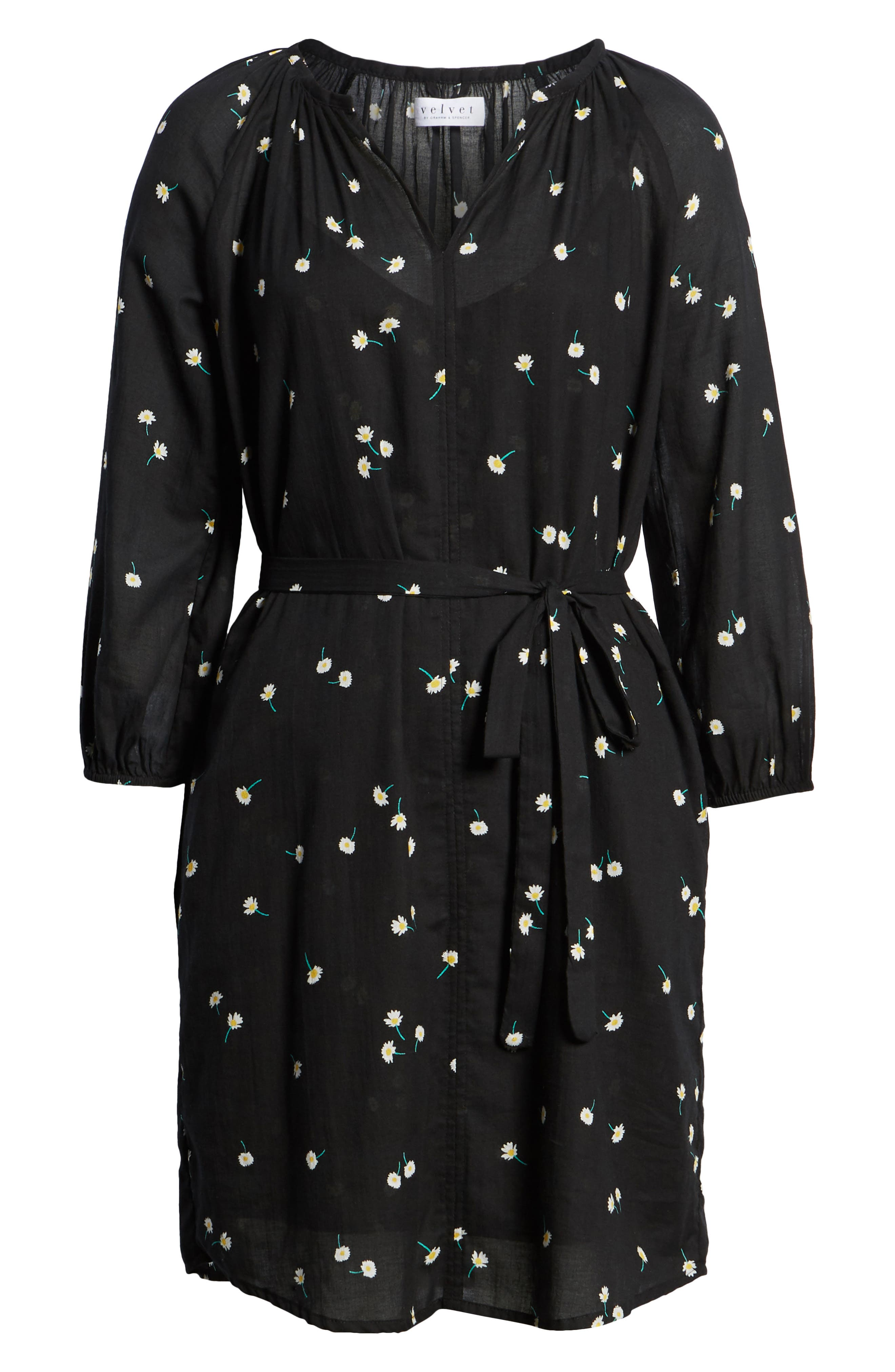 Printed Cotton Gauze Dress,                             Alternate thumbnail 7, color,                             008