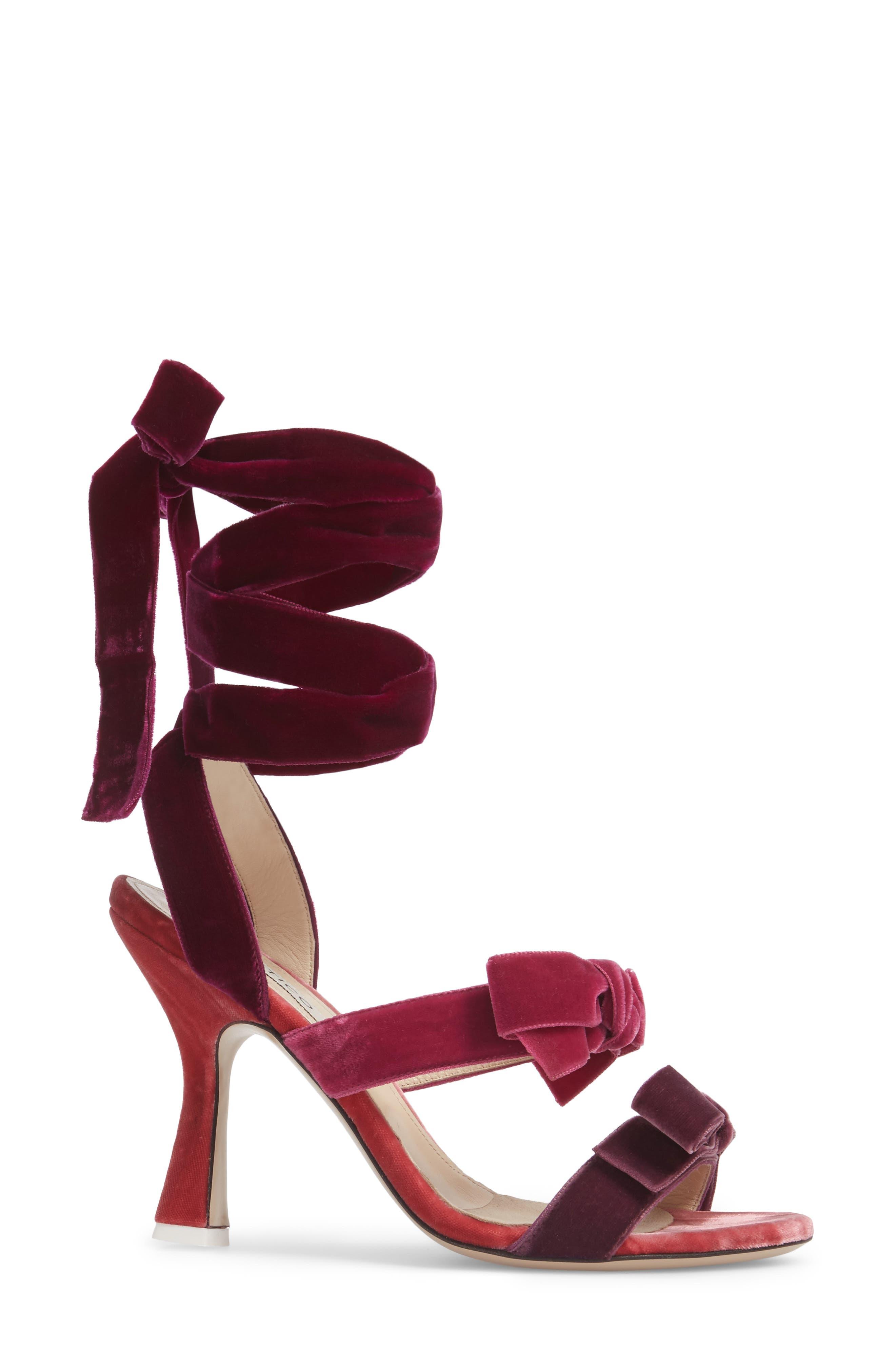 Diletta Ankle Wrap Sandal,                             Alternate thumbnail 3, color,                             500