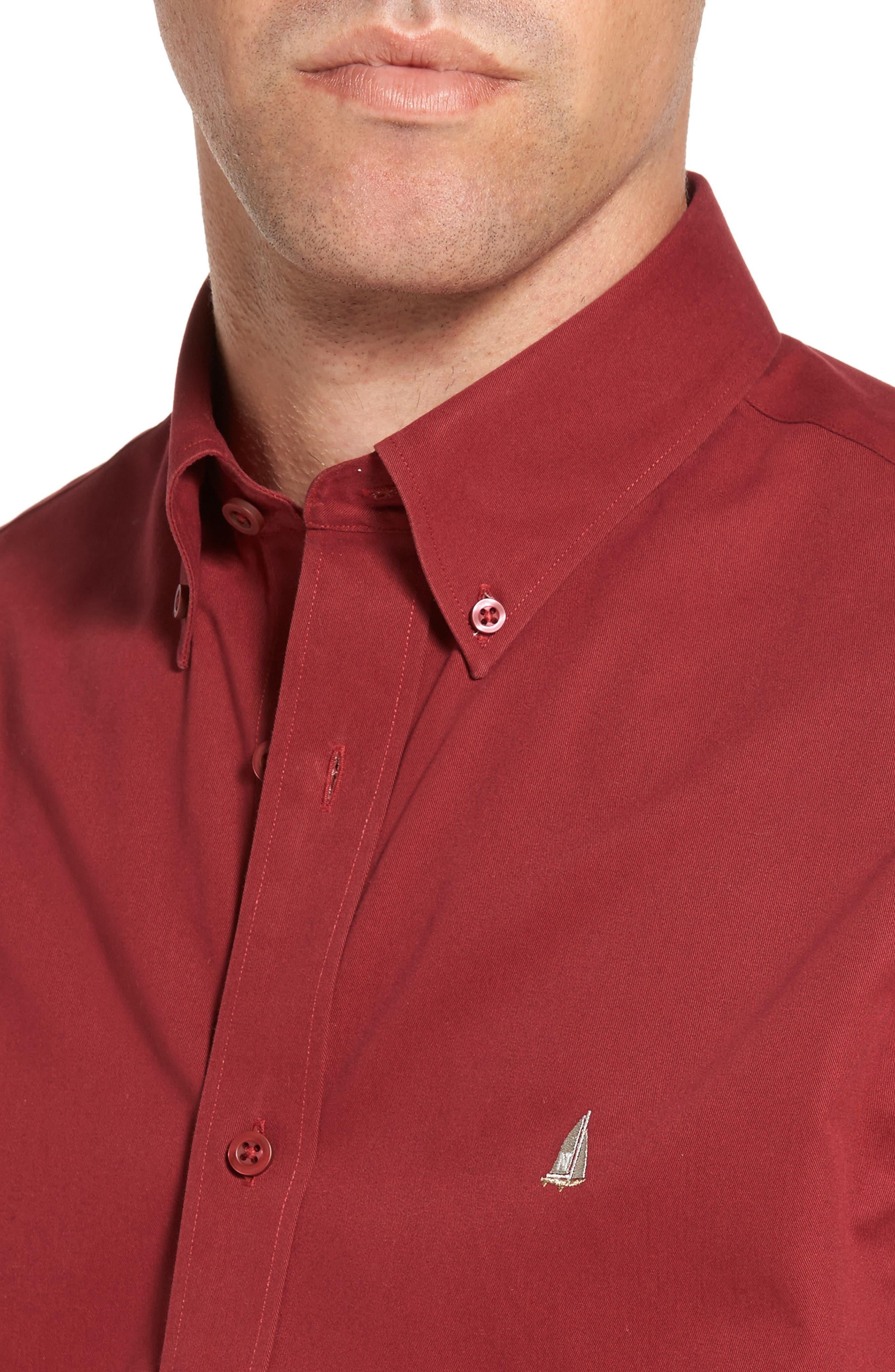 Smartcare<sup>™</sup> Traditional Fit Twill Boat Shirt,                             Alternate thumbnail 153, color,