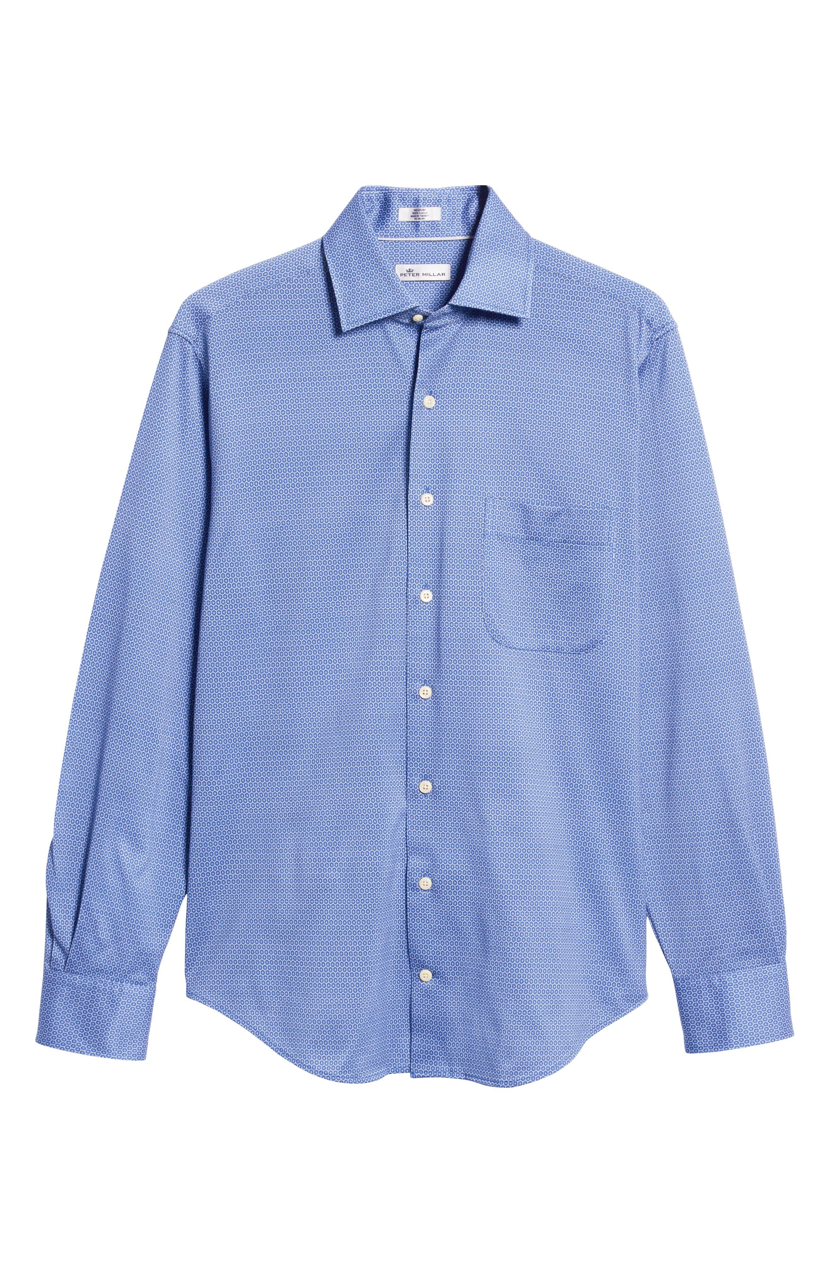 Schwinn Sport Shirt,                             Alternate thumbnail 5, color,                             PLAZA BLUE