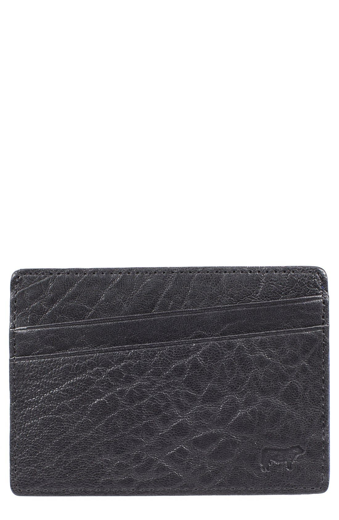 'Quip' Leather Card Case,                         Main,                         color, 012