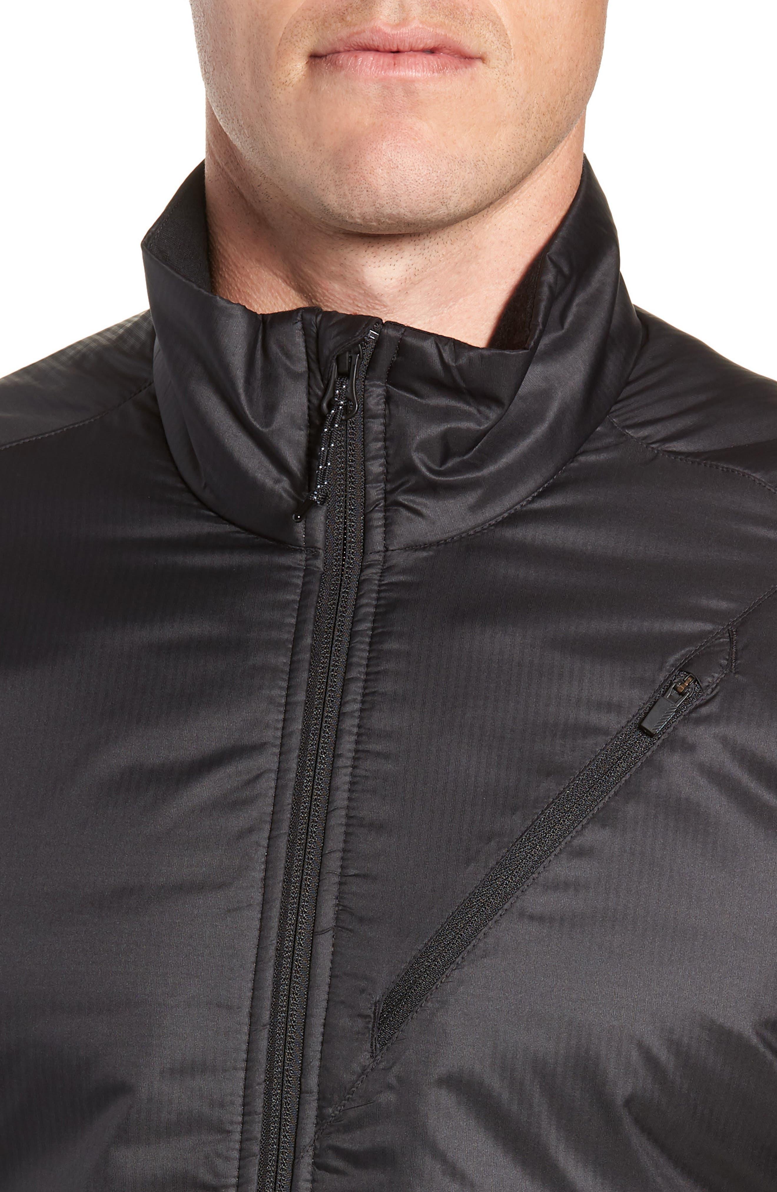MerinoLOFT<sup>™</sup> Helix Midlayer Zip Jacket,                             Alternate thumbnail 4, color,                             BLACK/ JET HEATHER