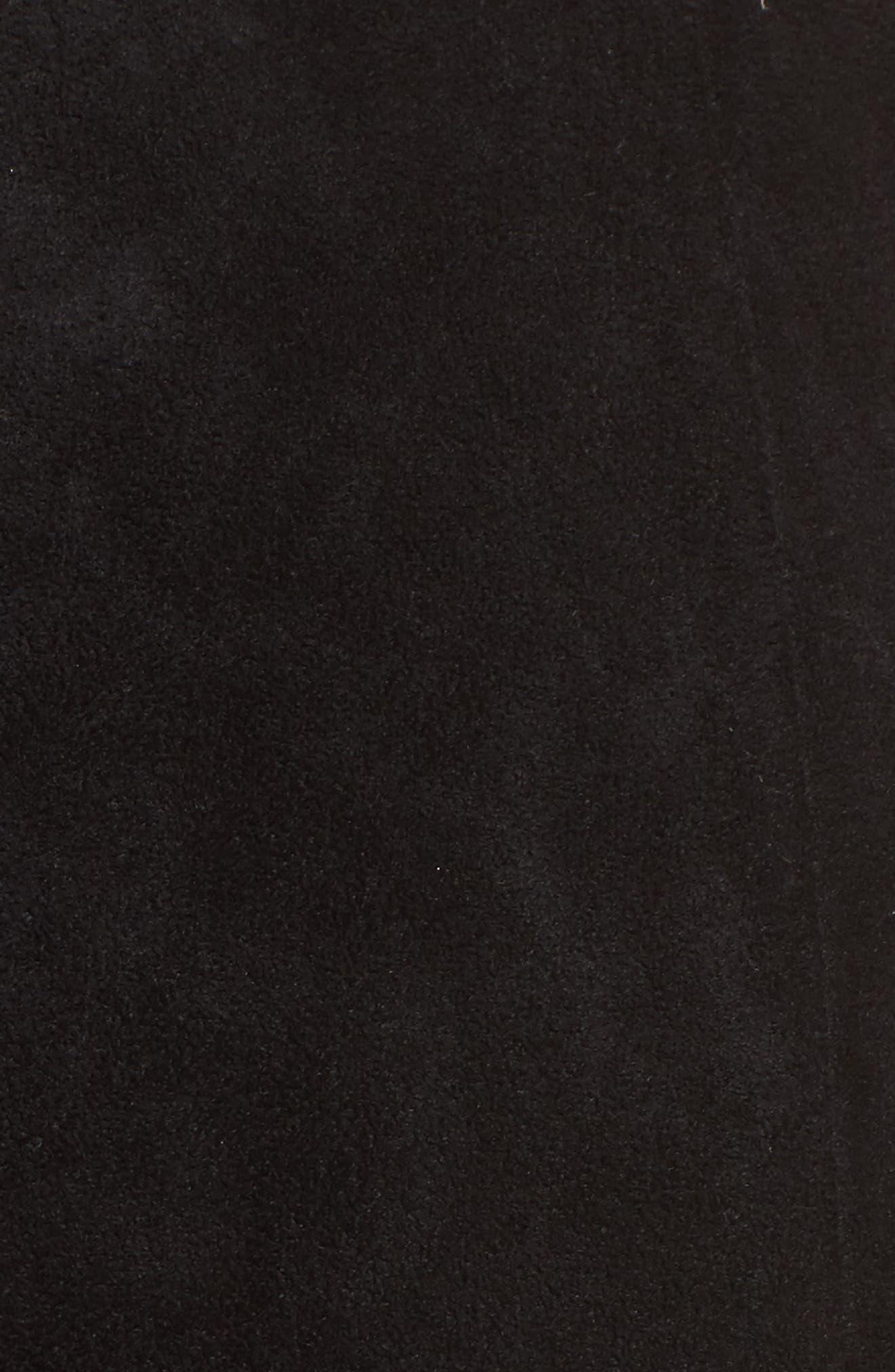 Mabel Ruched Miniskirt,                             Alternate thumbnail 5, color,                             001