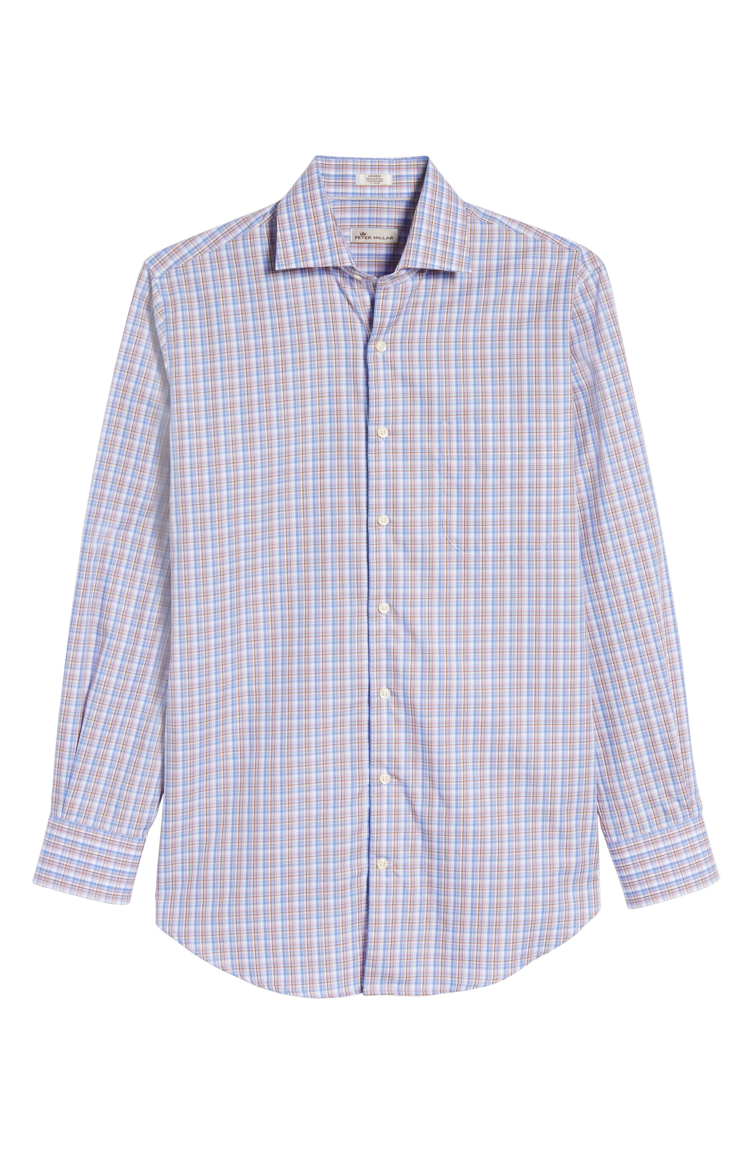 Alpine Regular Fit Plaid Sport Shirt,                             Alternate thumbnail 6, color,