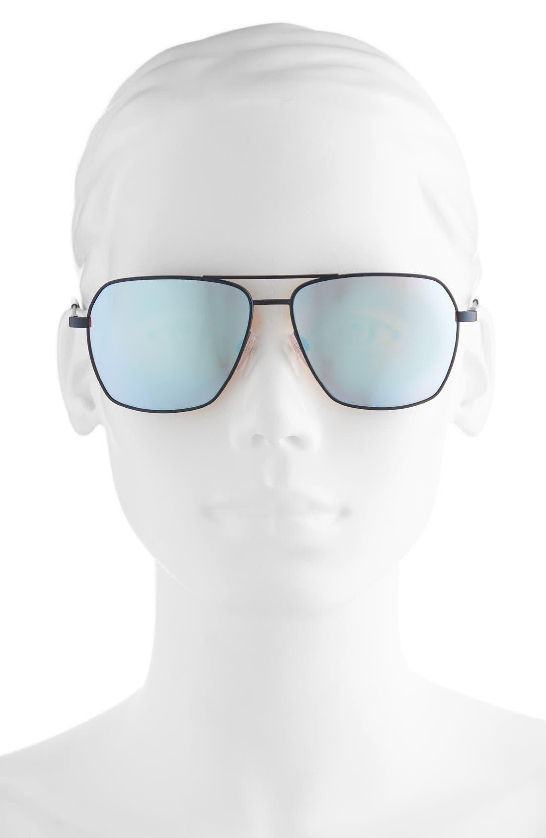 'AV2' 59mm Navigator Sunglasses,                             Alternate thumbnail 2, color,                             001