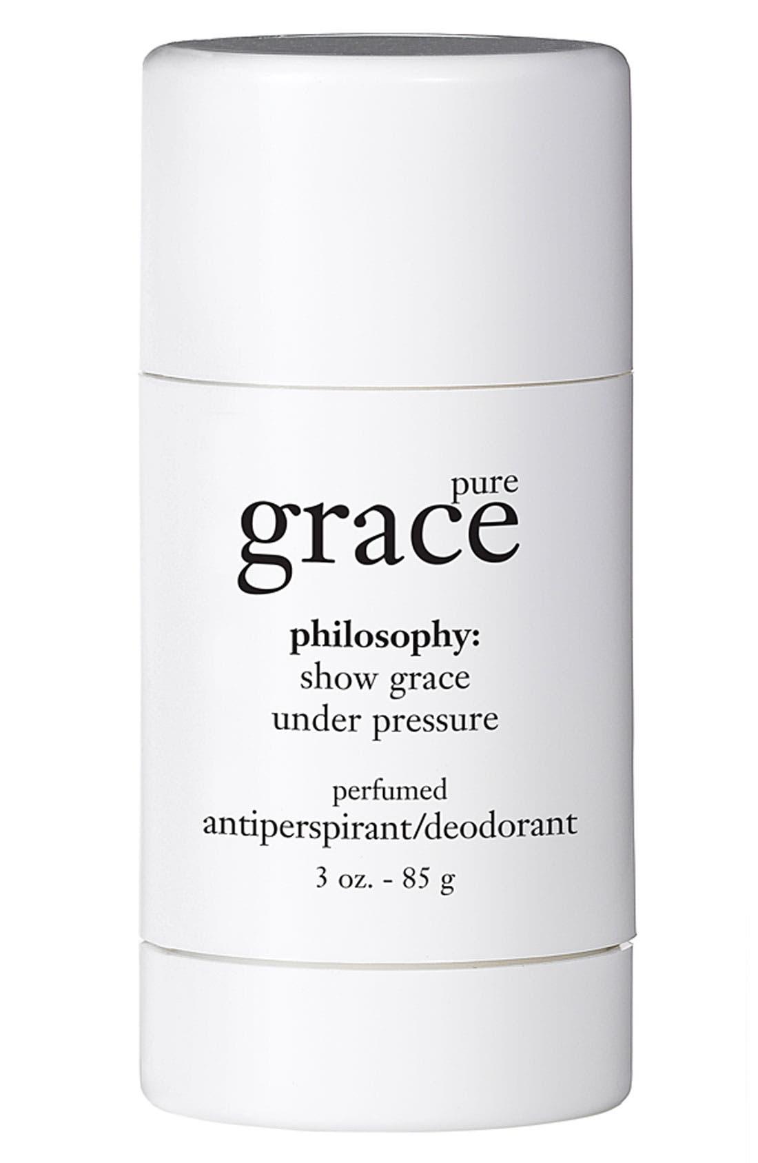 PHILOSOPHY,                             'pure grace' perfumed antiperspirant /deodorant,                             Main thumbnail 1, color,                             000