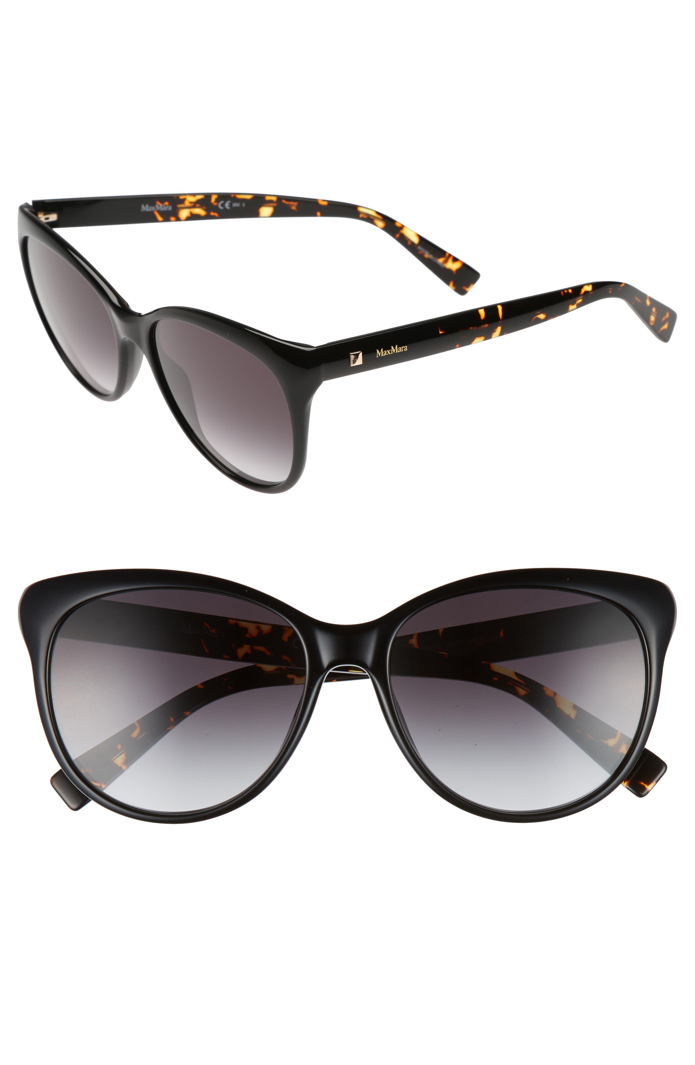 Cosy 56mm Gradient Cat Eye Sunglasses,                         Main,                         color, 001