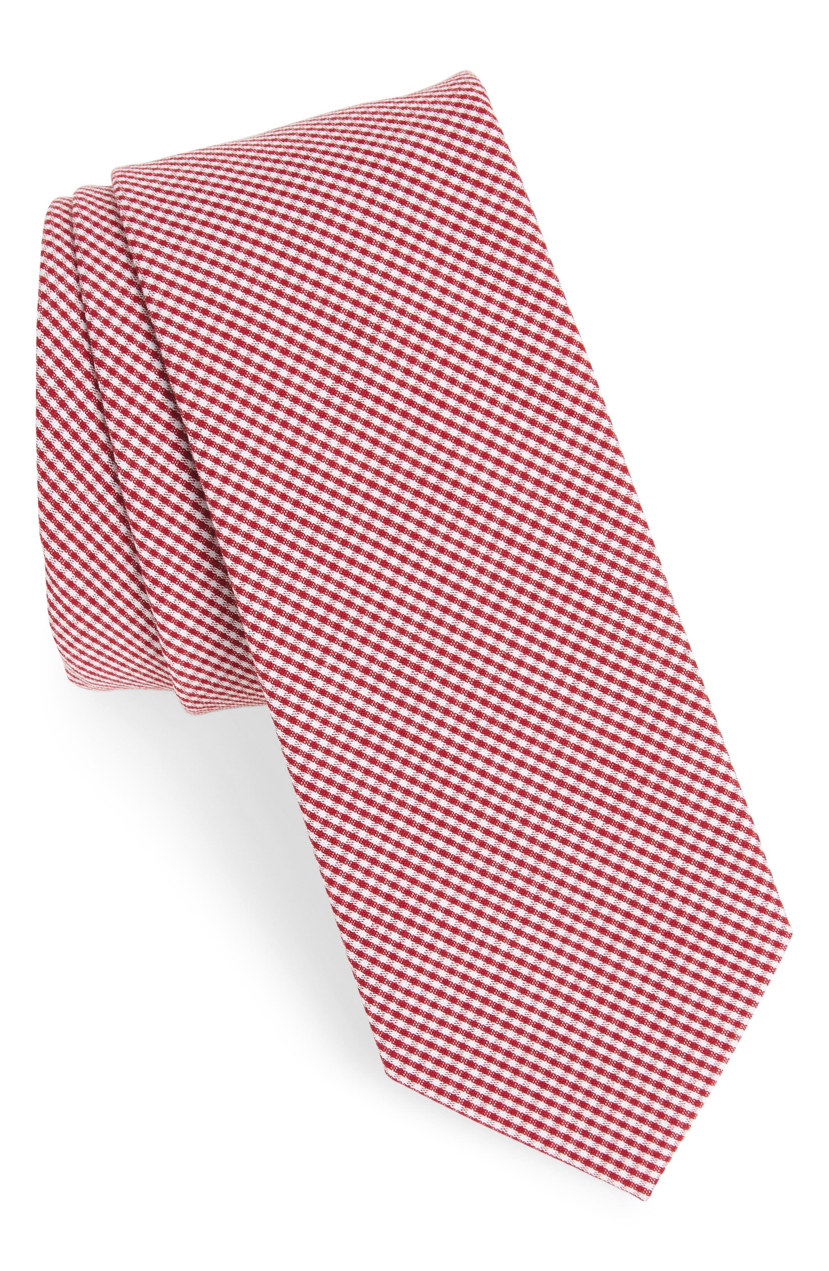 Check Cotton Tie,                             Main thumbnail 9, color,