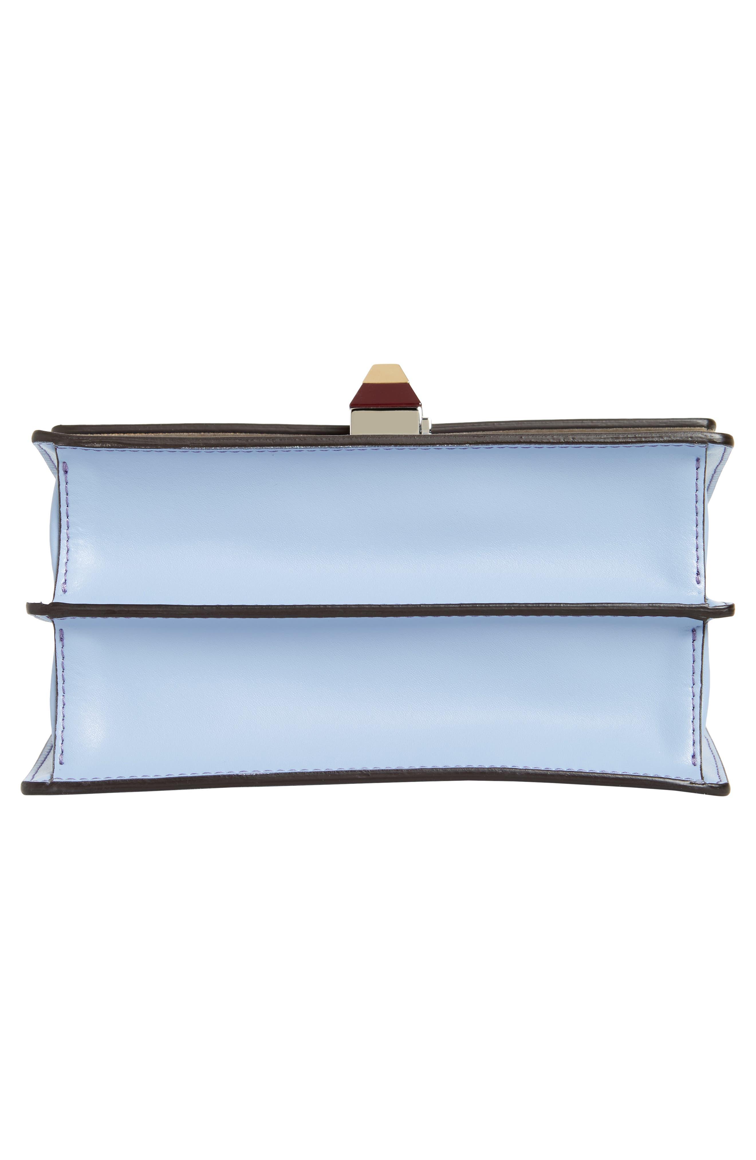 Mini Kan I Leather Shoulder Bag,                             Alternate thumbnail 6, color,                             SKY