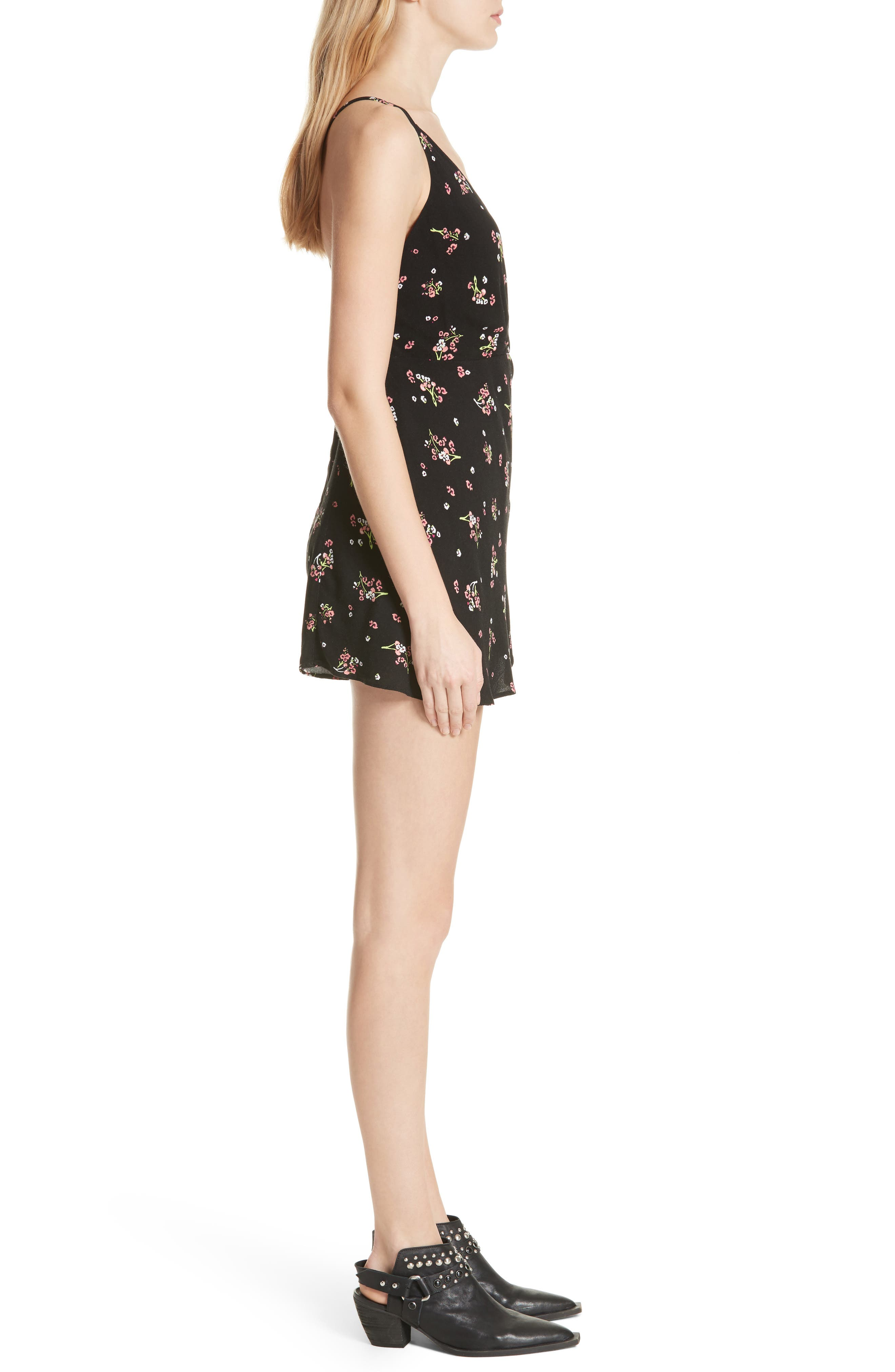 FREE PEOPLE,                             Tango at Night Romper,                             Alternate thumbnail 3, color,                             001