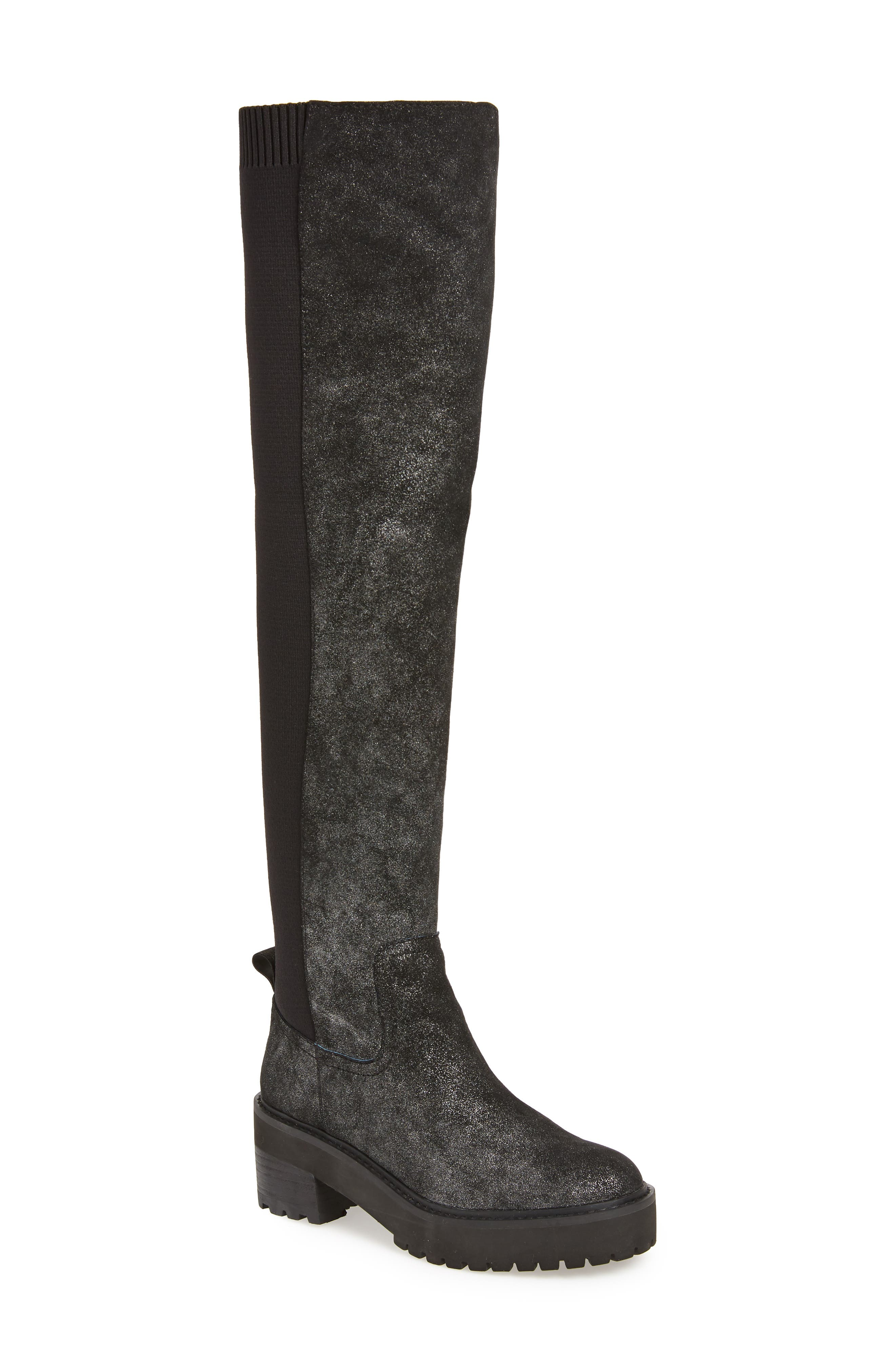 Lindy Over the Knee Boot,                             Main thumbnail 1, color,                             001