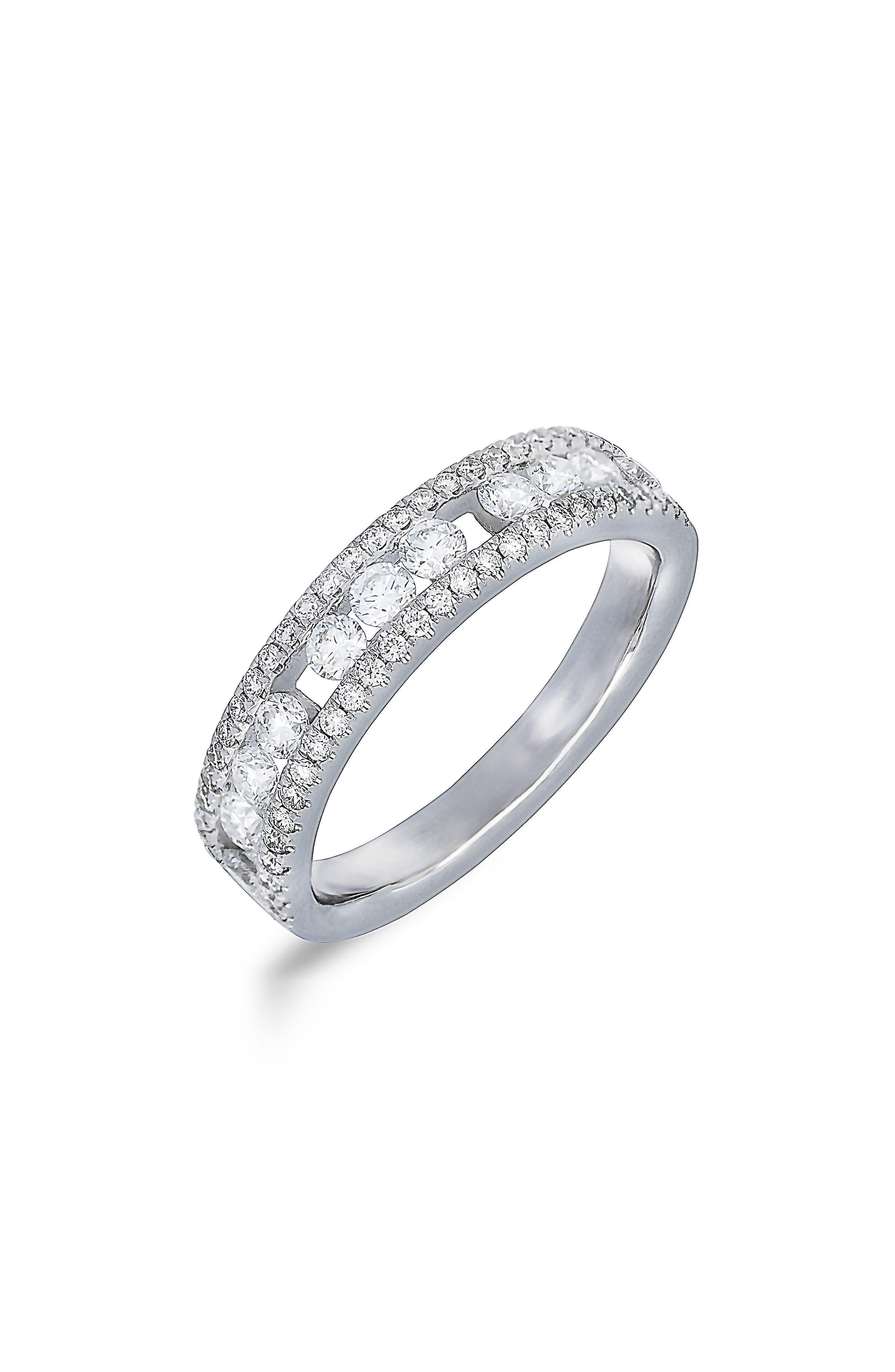 Amara Diamond Three-Row Ring,                             Main thumbnail 1, color,                             711